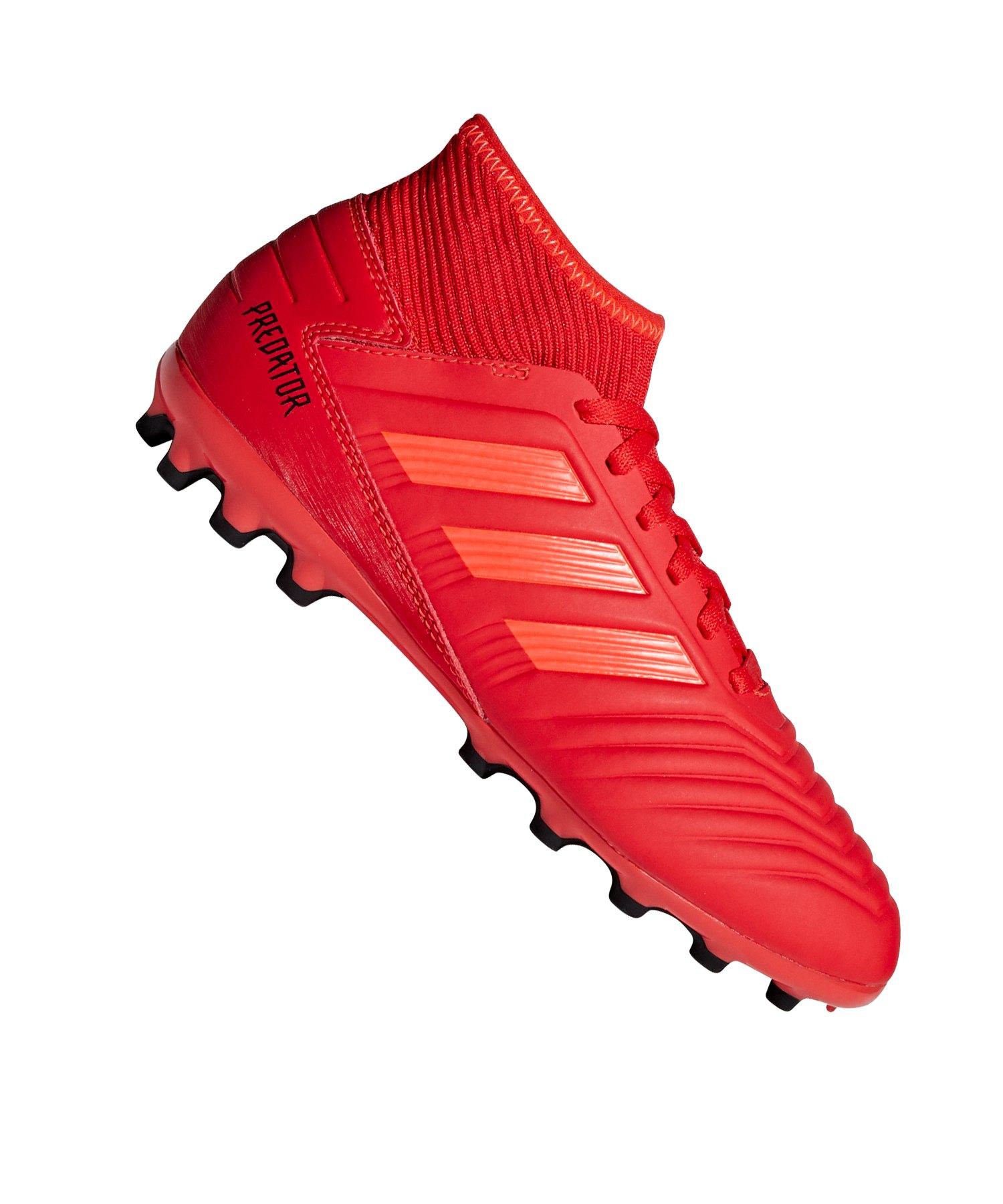 adidas Predator 19.3 AG J Kids Rot Schwarz - rot