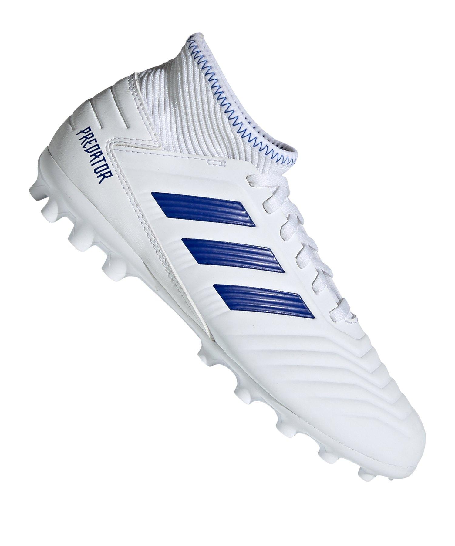 adidas Predator 19.3 AG J Kids Weiss Blau - weiss