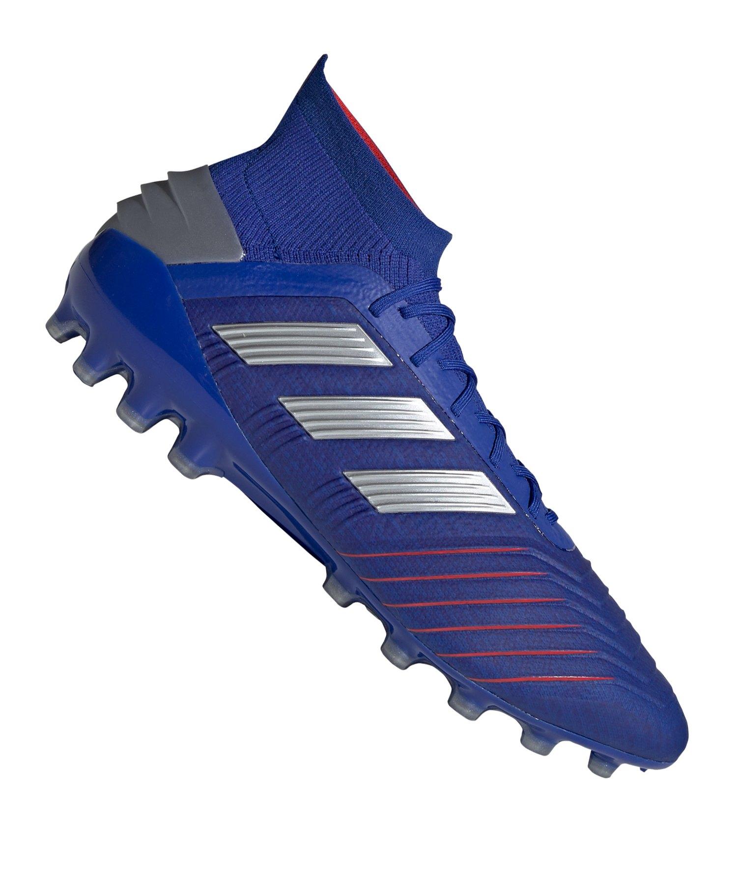 adidas Predator 19.1 AG Blau Silber - blau