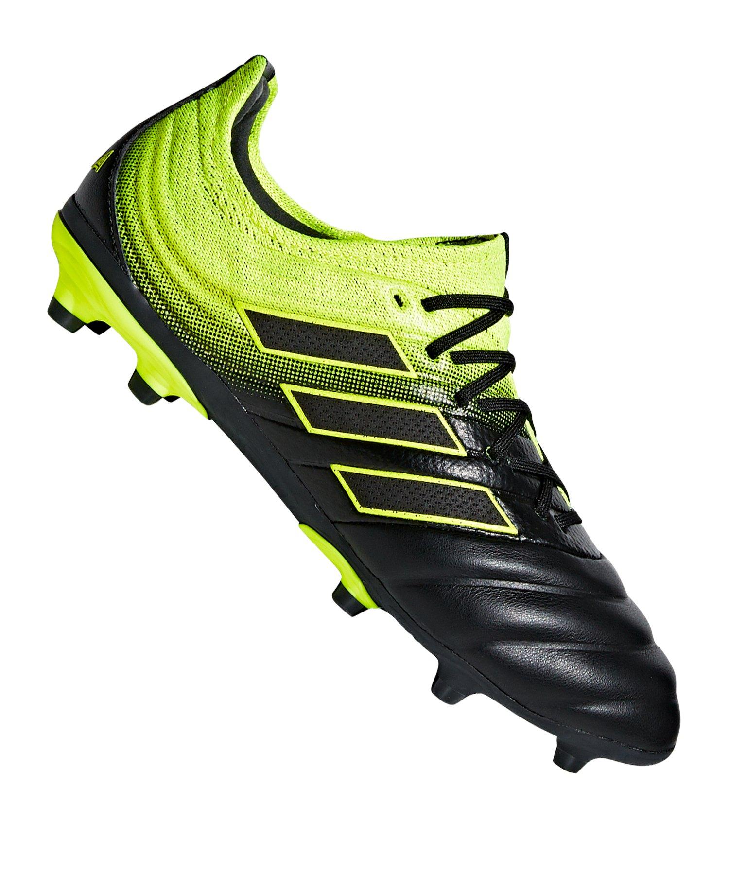 adidas COPA 19.1 FG J Kids Schwarz Gelb - schwarz
