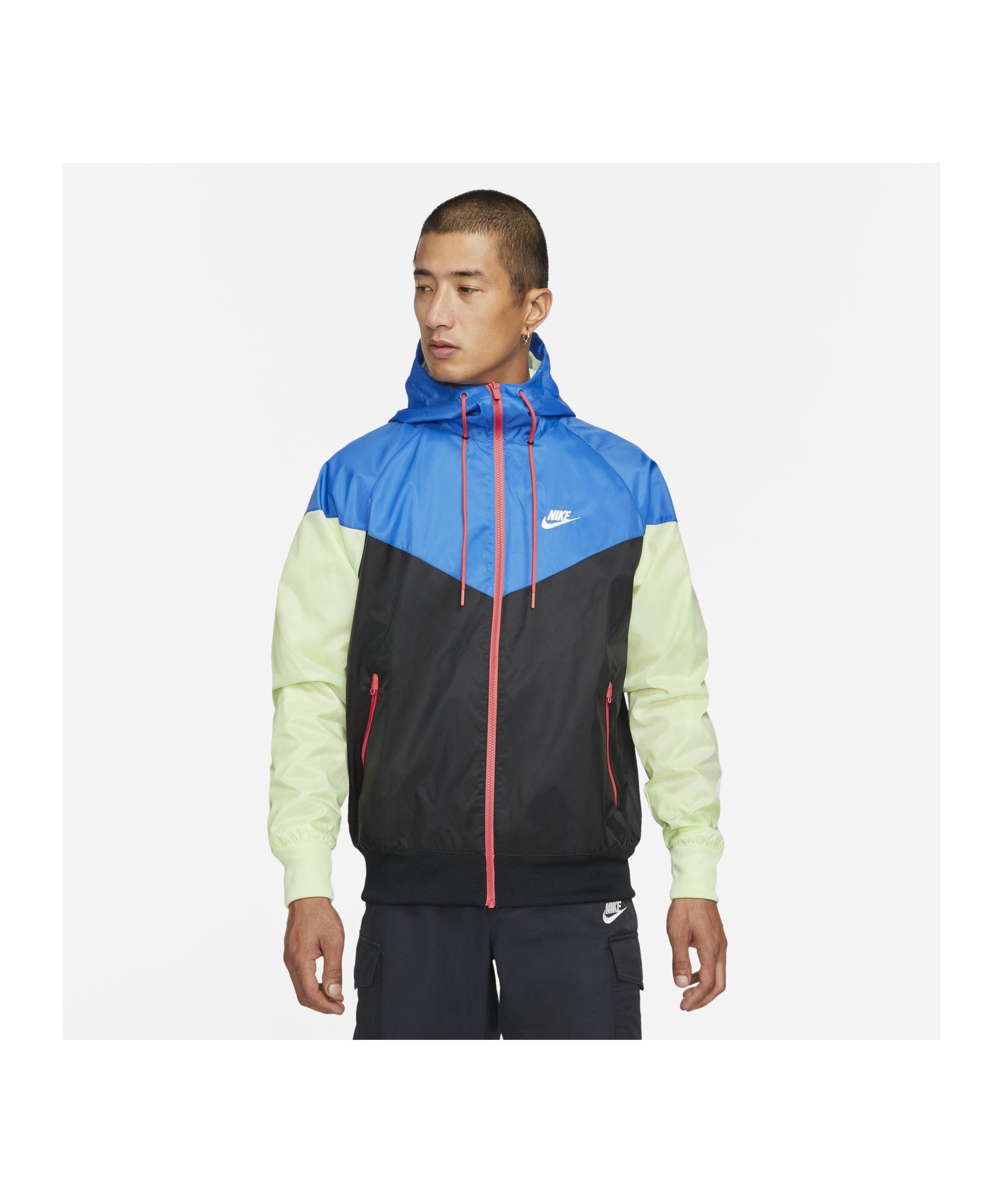 Nike Woven Windrunner Kapuzenjacke Schwarz F013 - schwarz