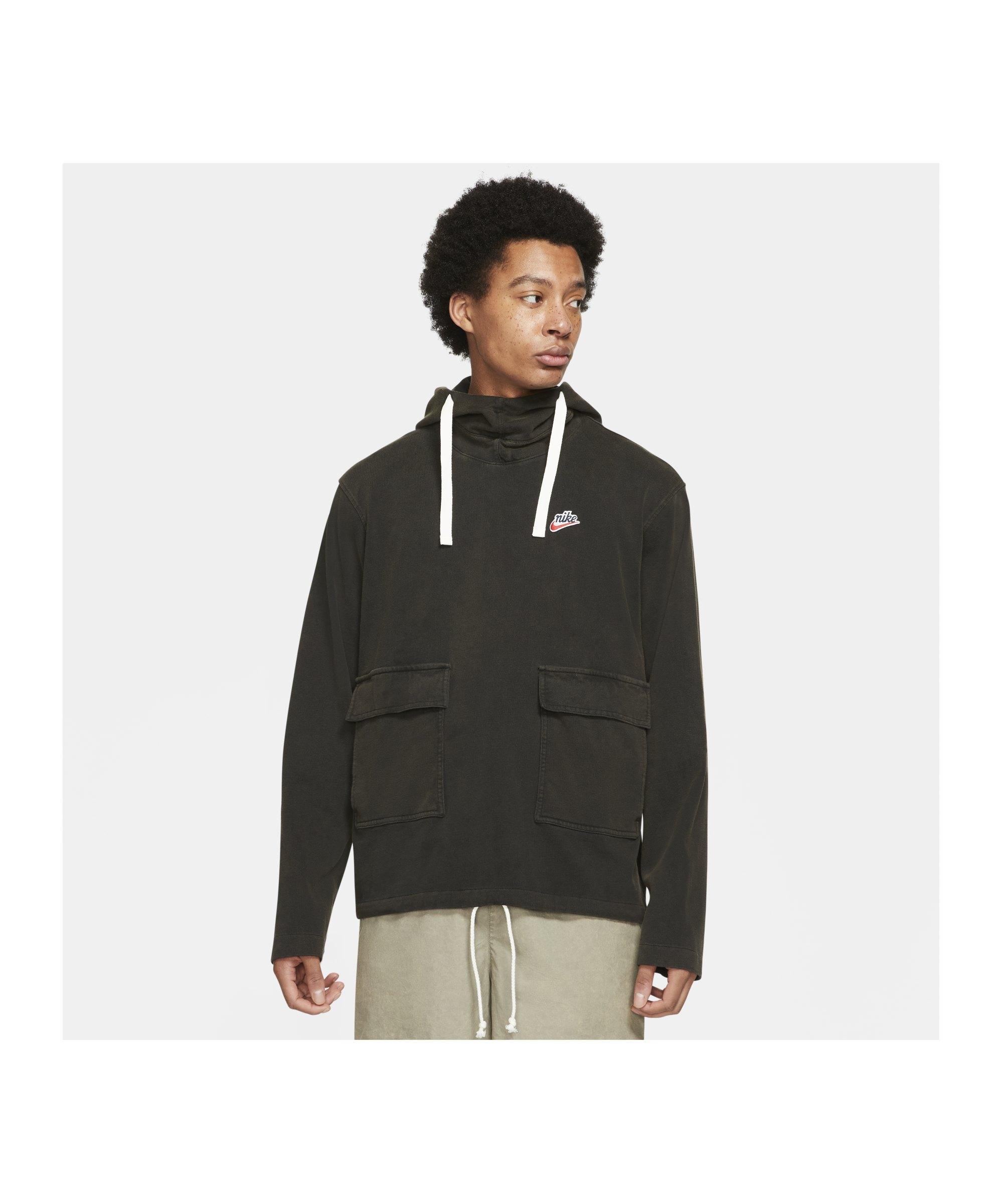 Nike Heritage Essentials Knit Hoody Schwarz F010 - schwarz