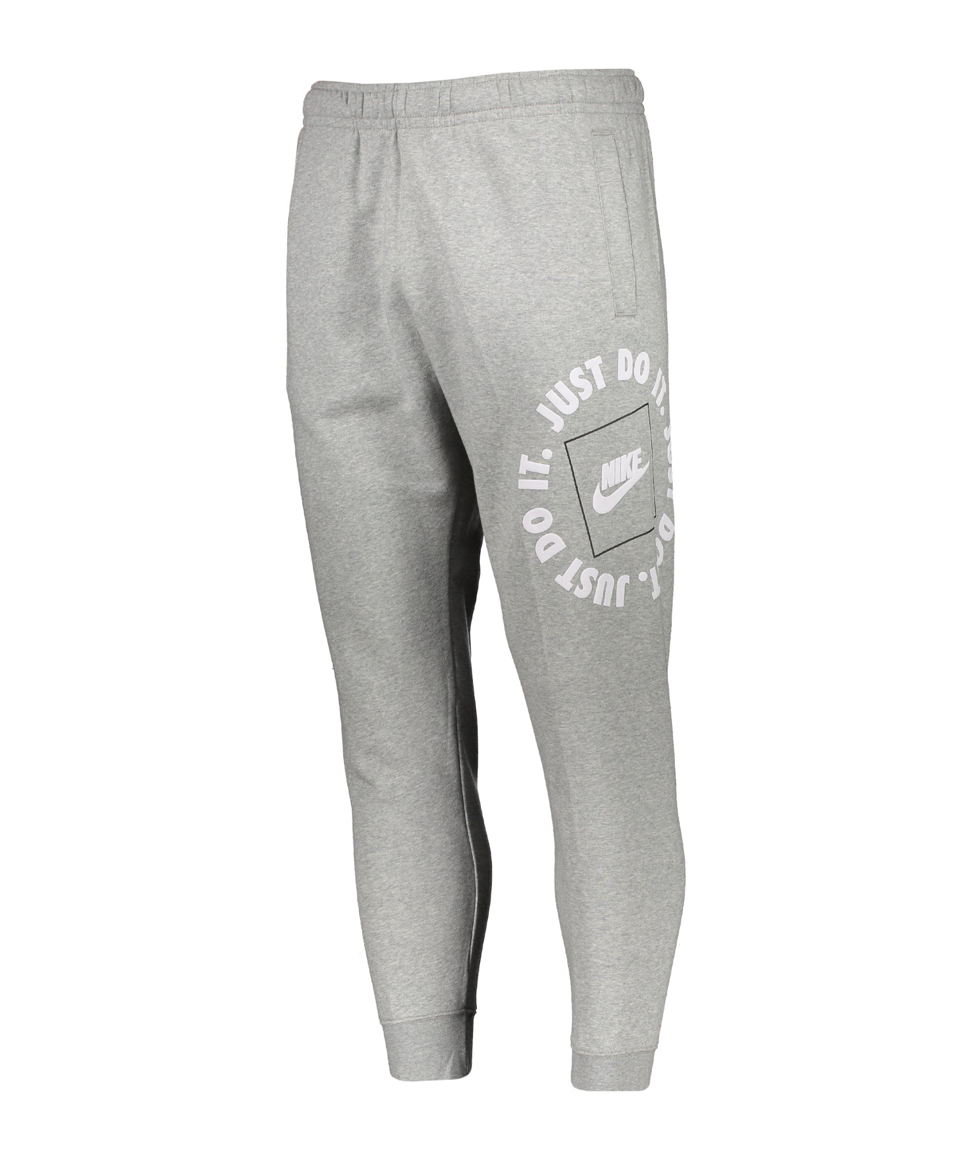 Nike Just Do It Fleece Jogginghose Grau F063 - grau