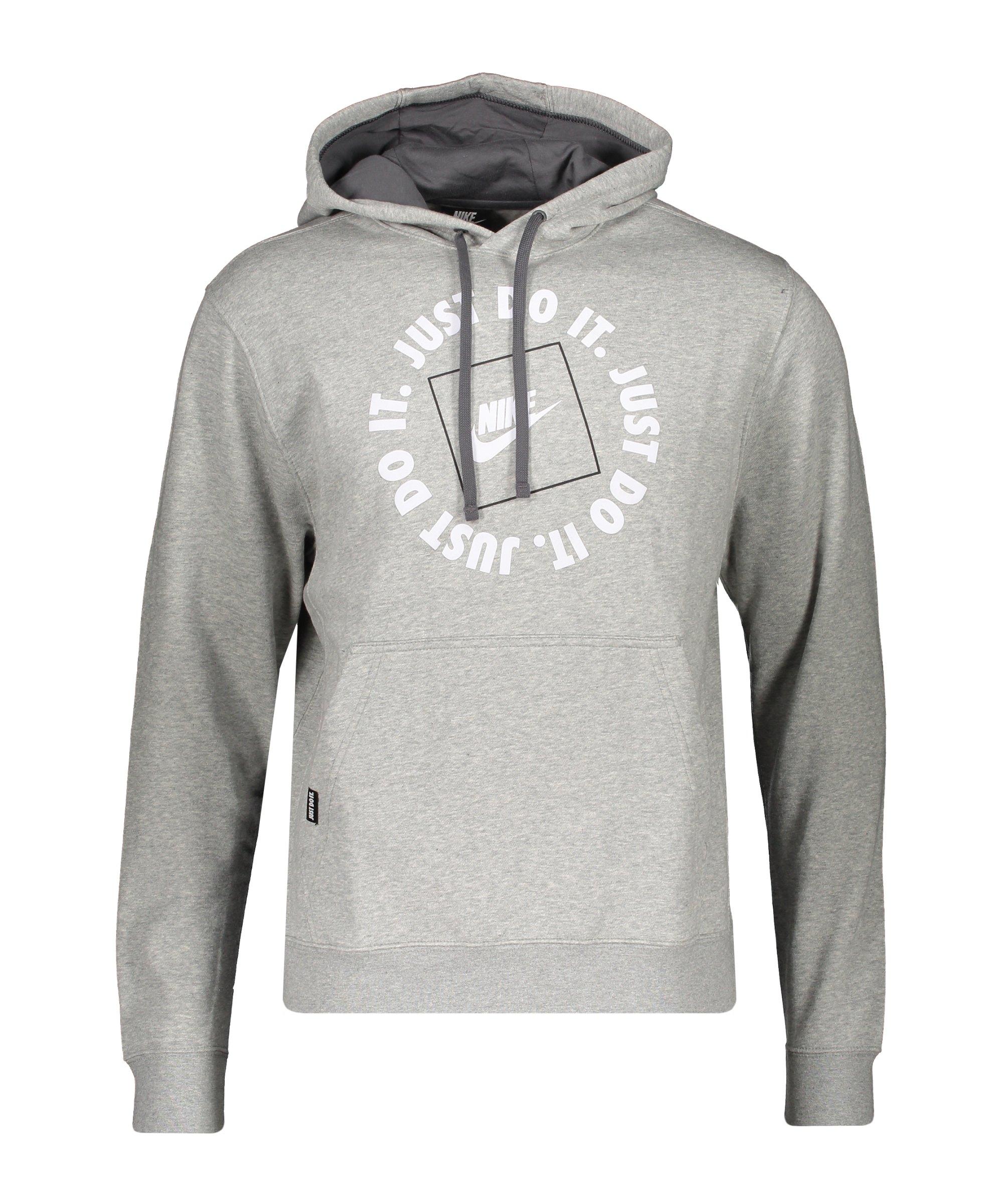 Nike Just Do It Fleece Hoody Grau F063 - grau