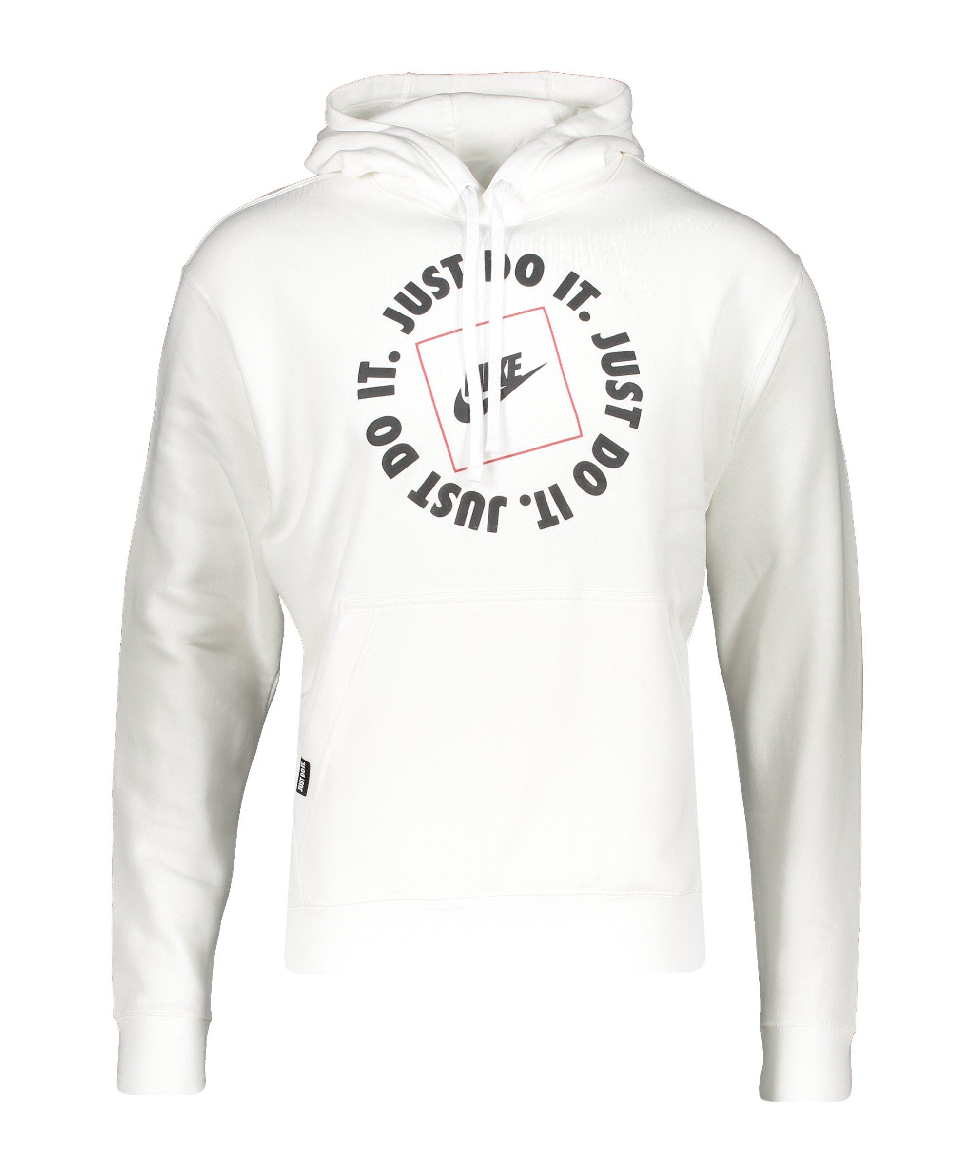 Nike Just Do It Fleece Hoody Weiss F100 - weiss