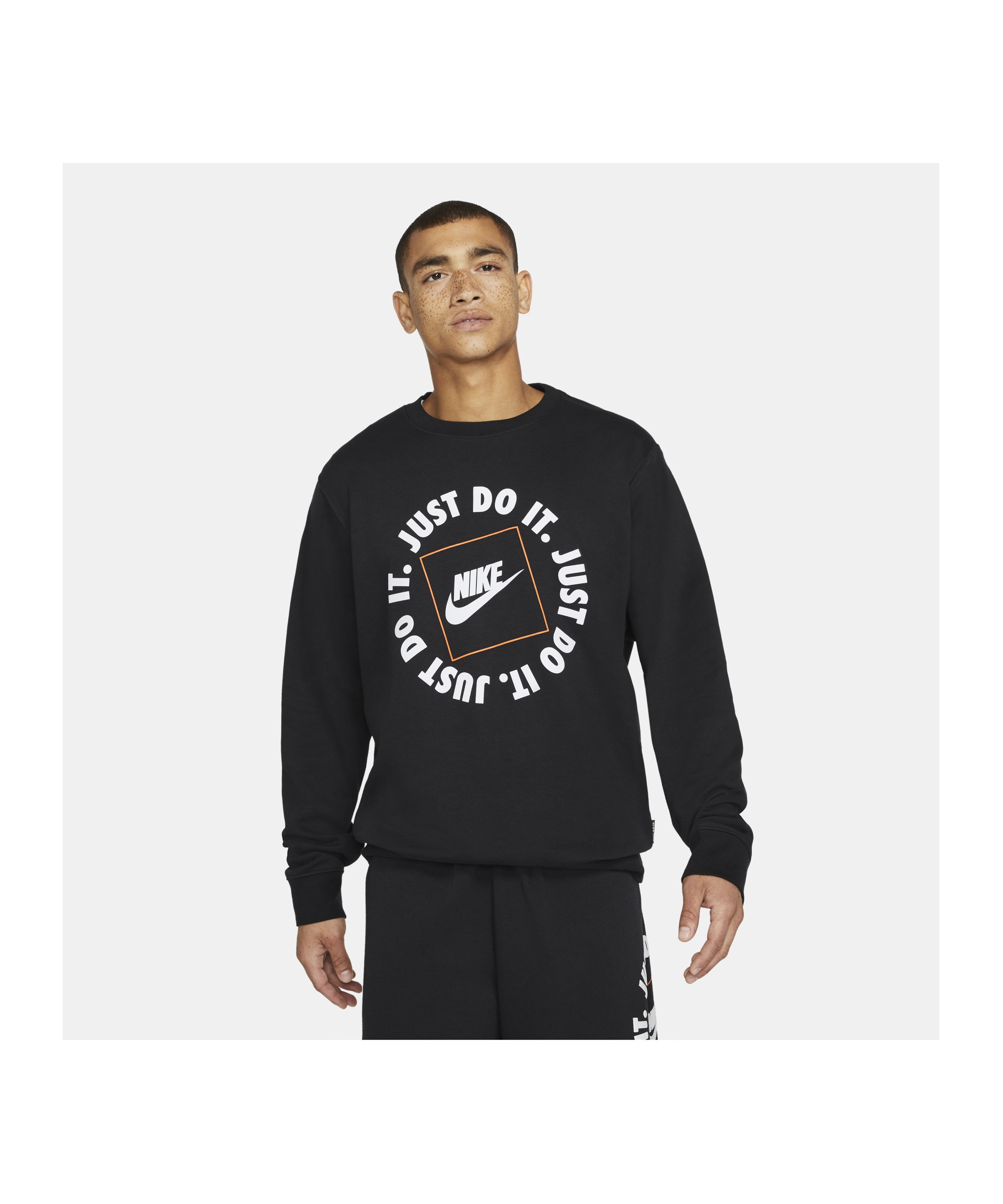 Nike Just Do It Fleece Sweatshirt Schwarz F010 - schwarz