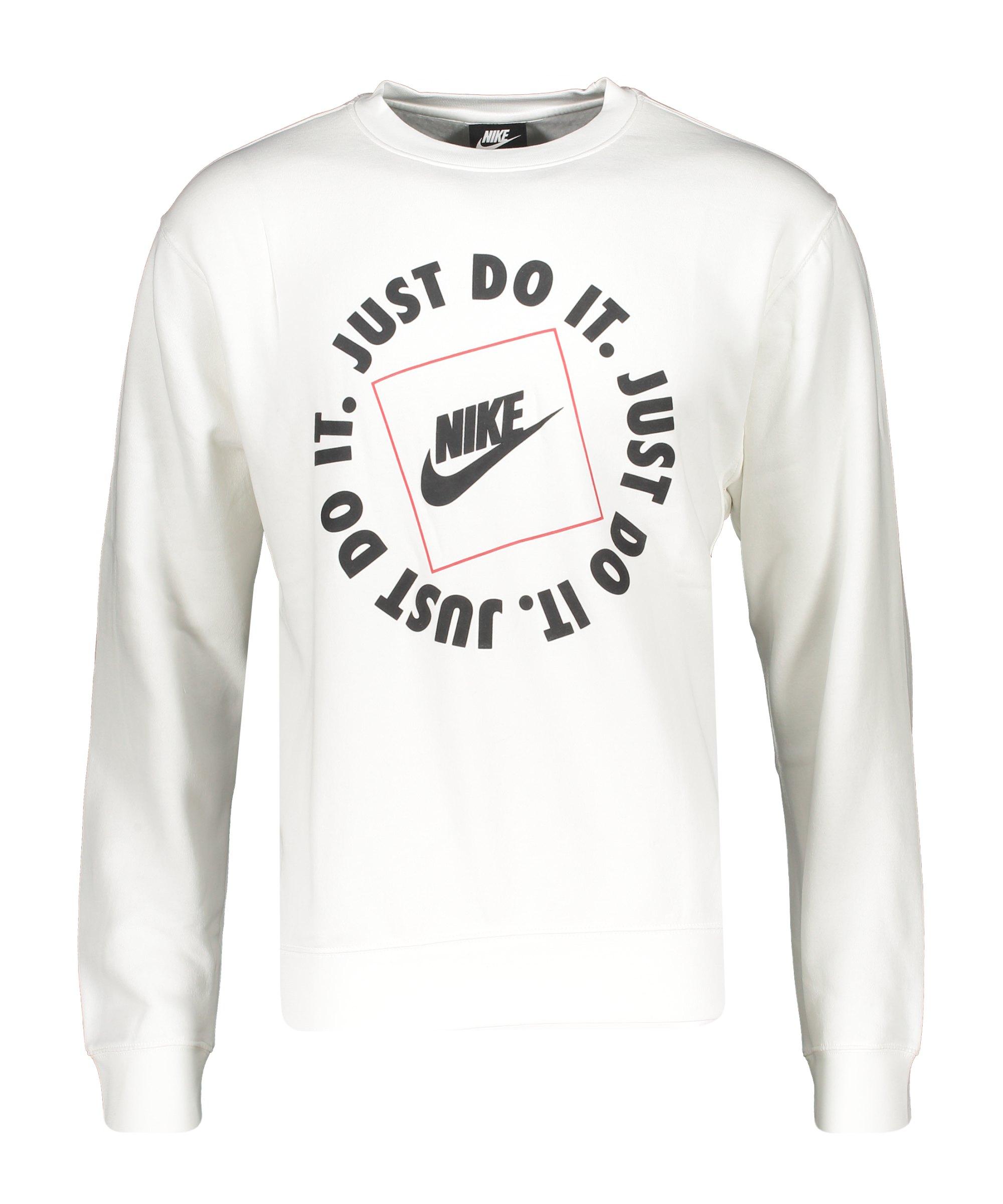 Nike Just Do It Fleece Sweatshirt Weiss F100 - weiss