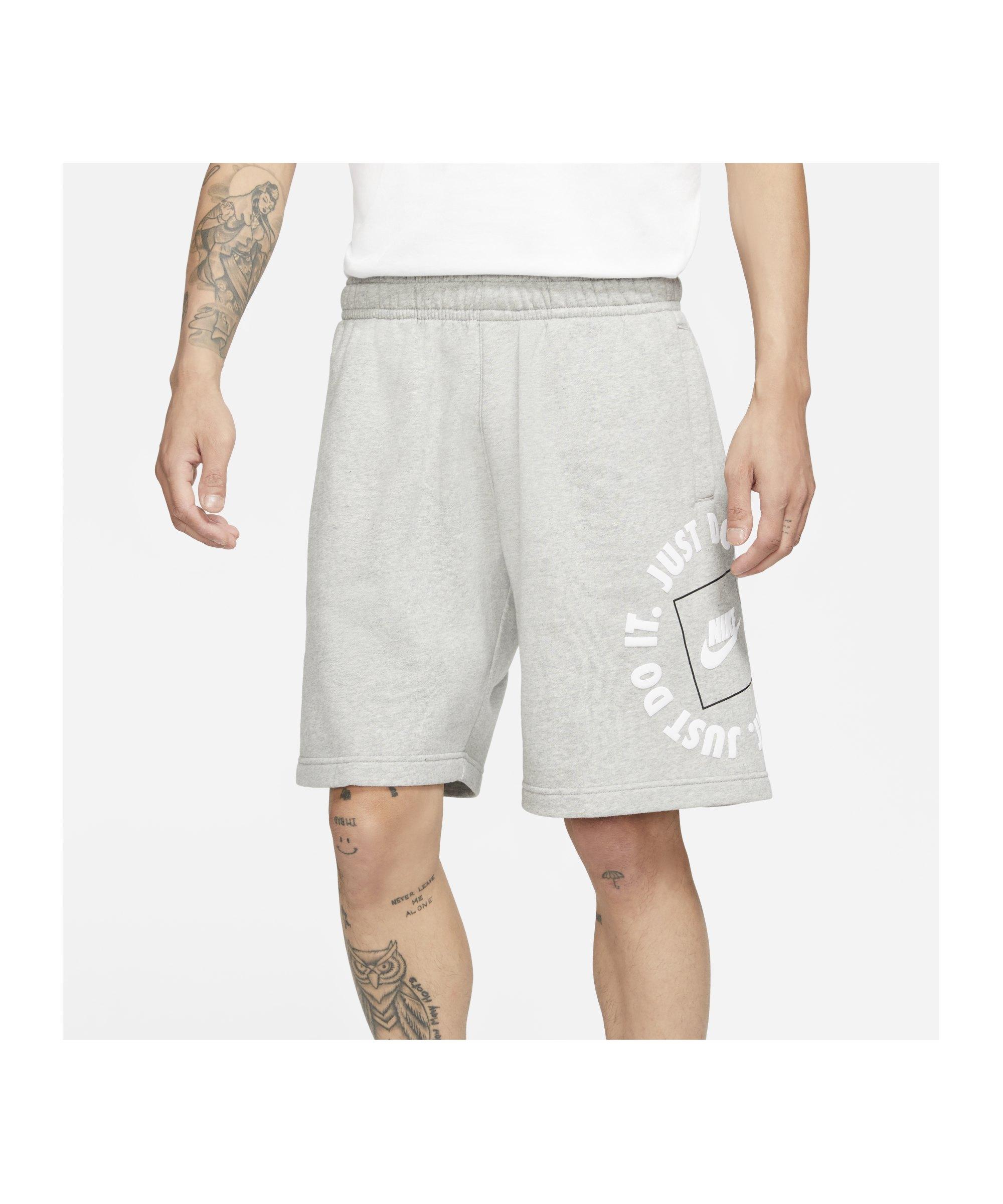 Nike Just Do It Fleece Short Grau F063 - grau