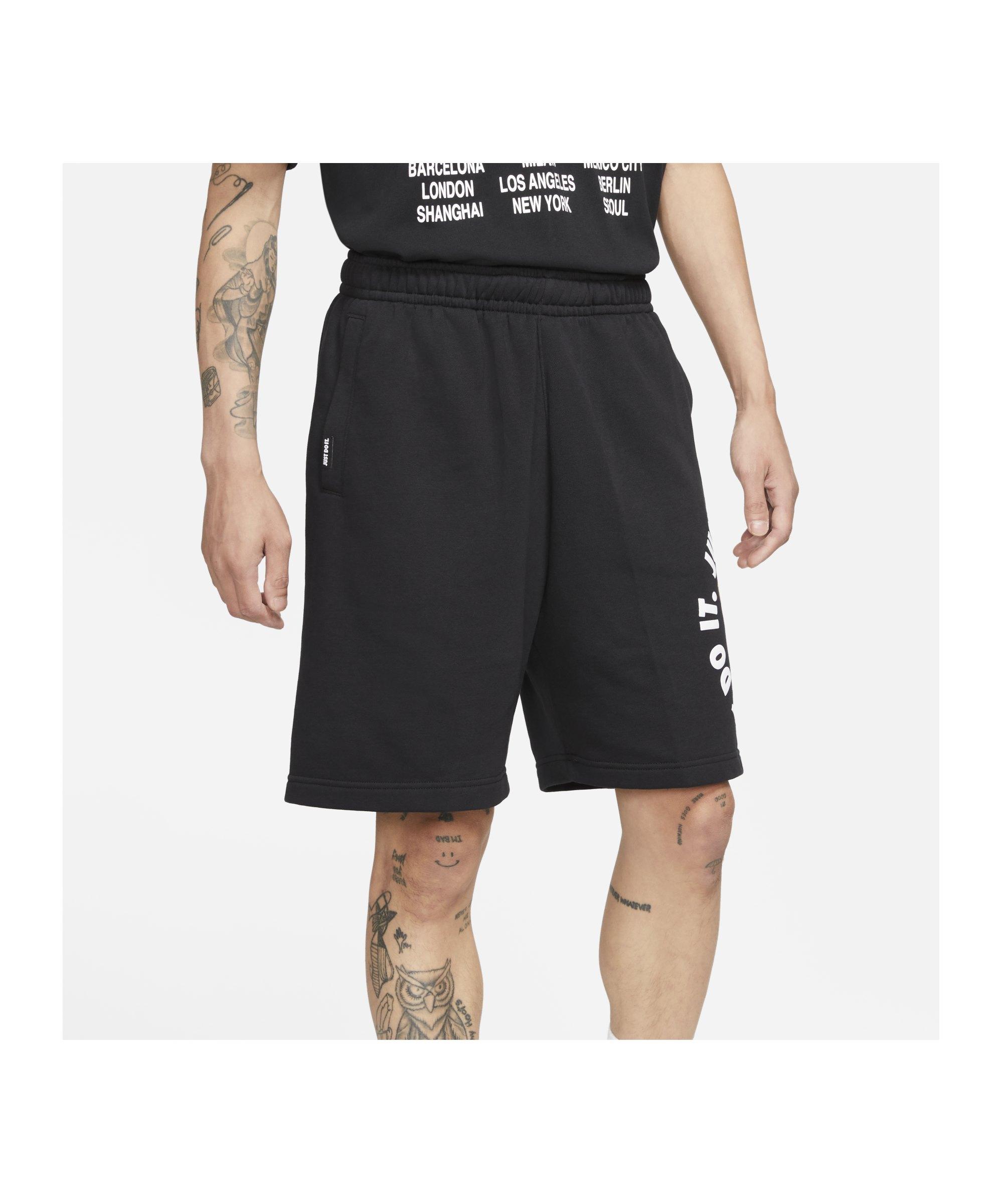 Nike Just Do It Fleece Short Schwarz F010 - schwarz
