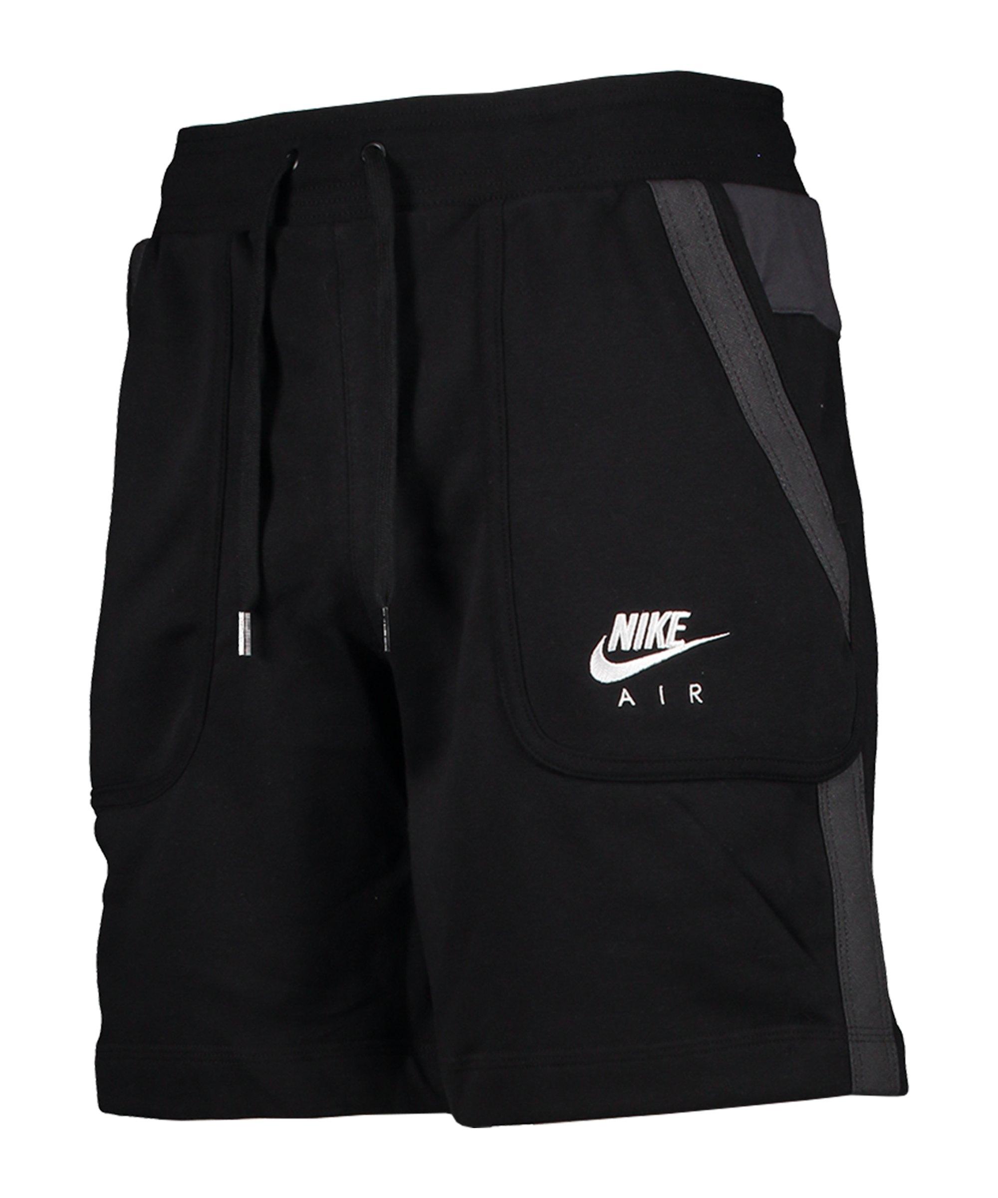 Nike Air Fleece Short Schwarz F010 - schwarz