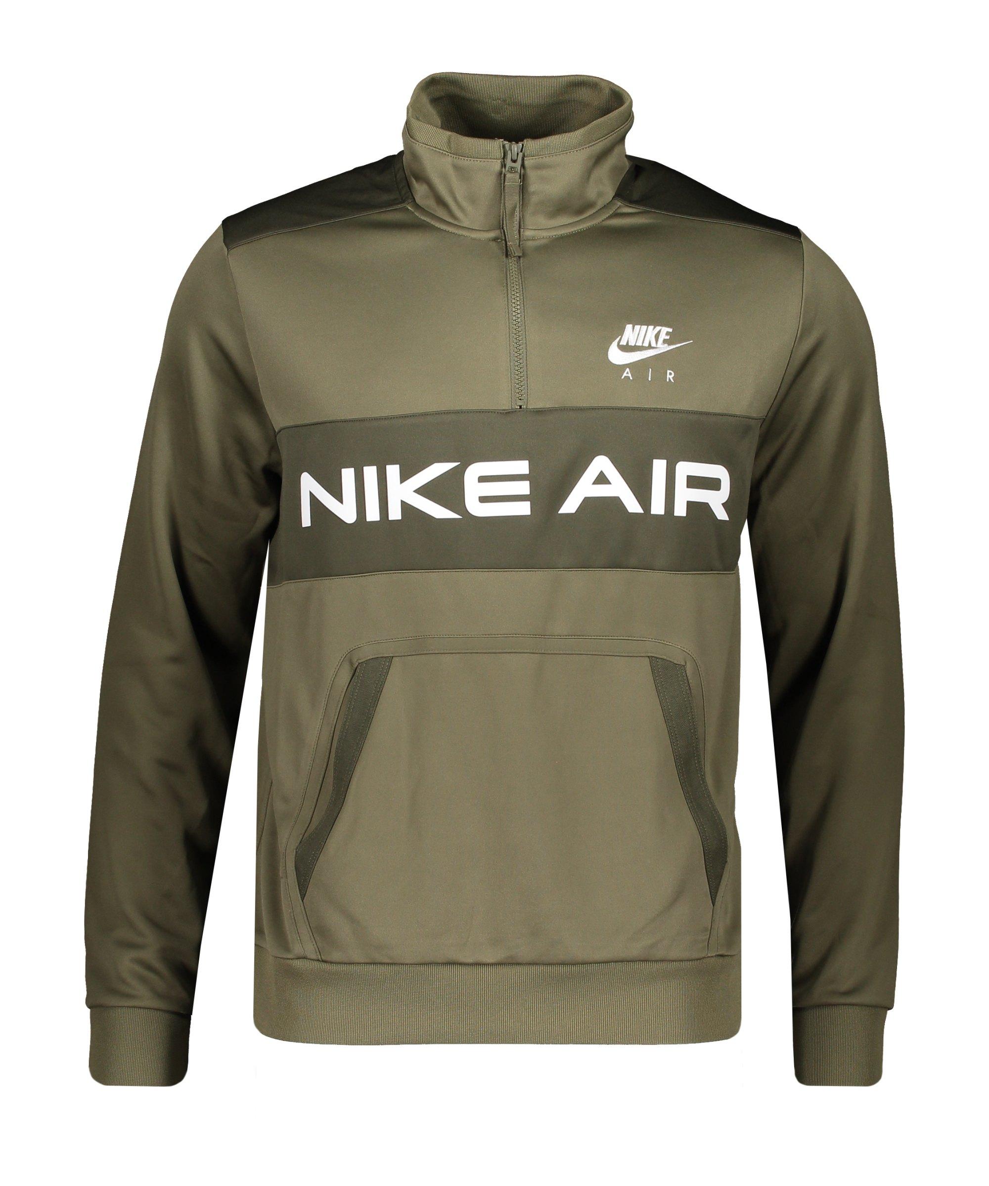Nike Air Icon HalfZip Sweatshirt Grün Weiss F222 - gruen