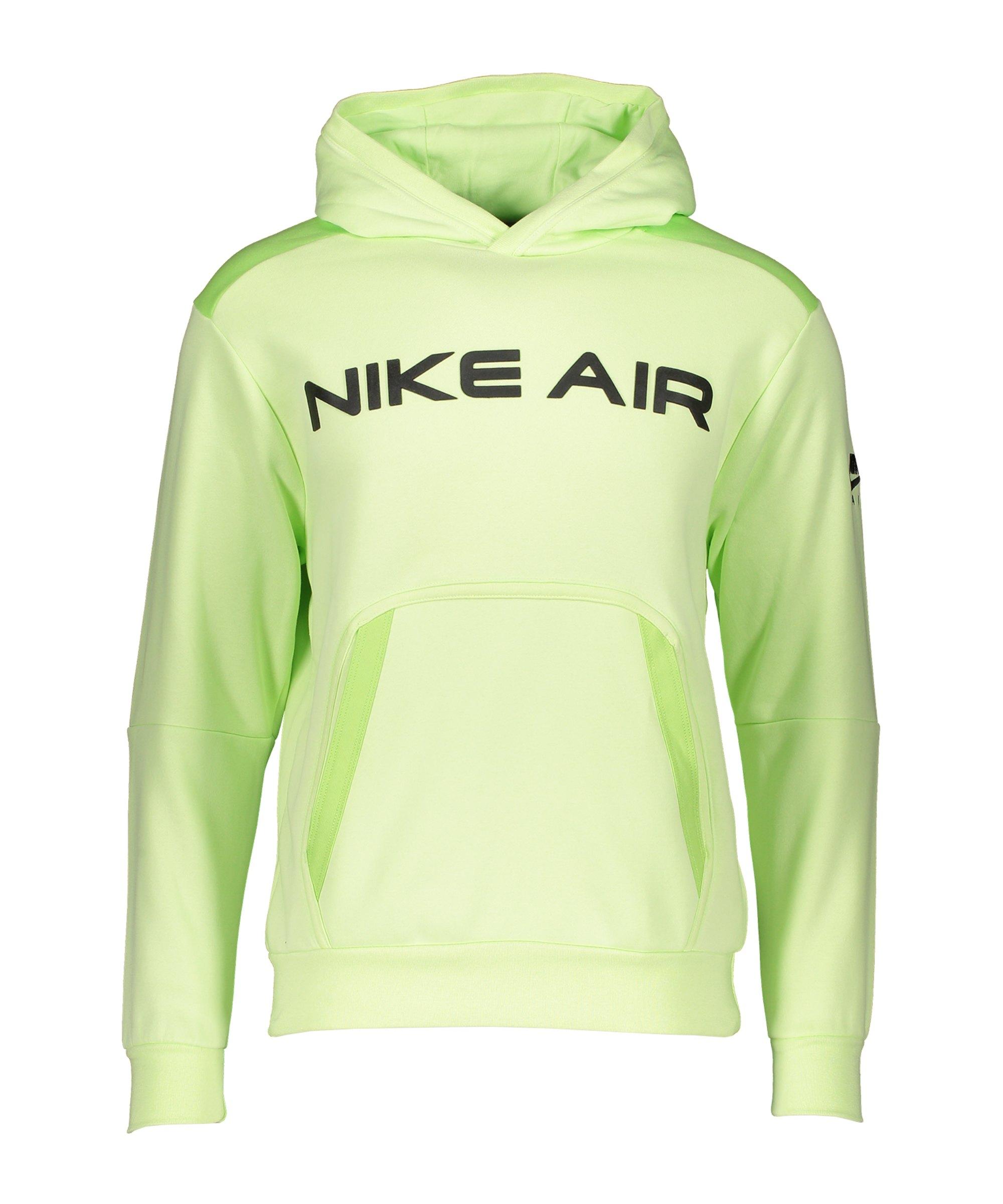 Nike Air Fleece Hoody Grün Schwarz F383 - gruen