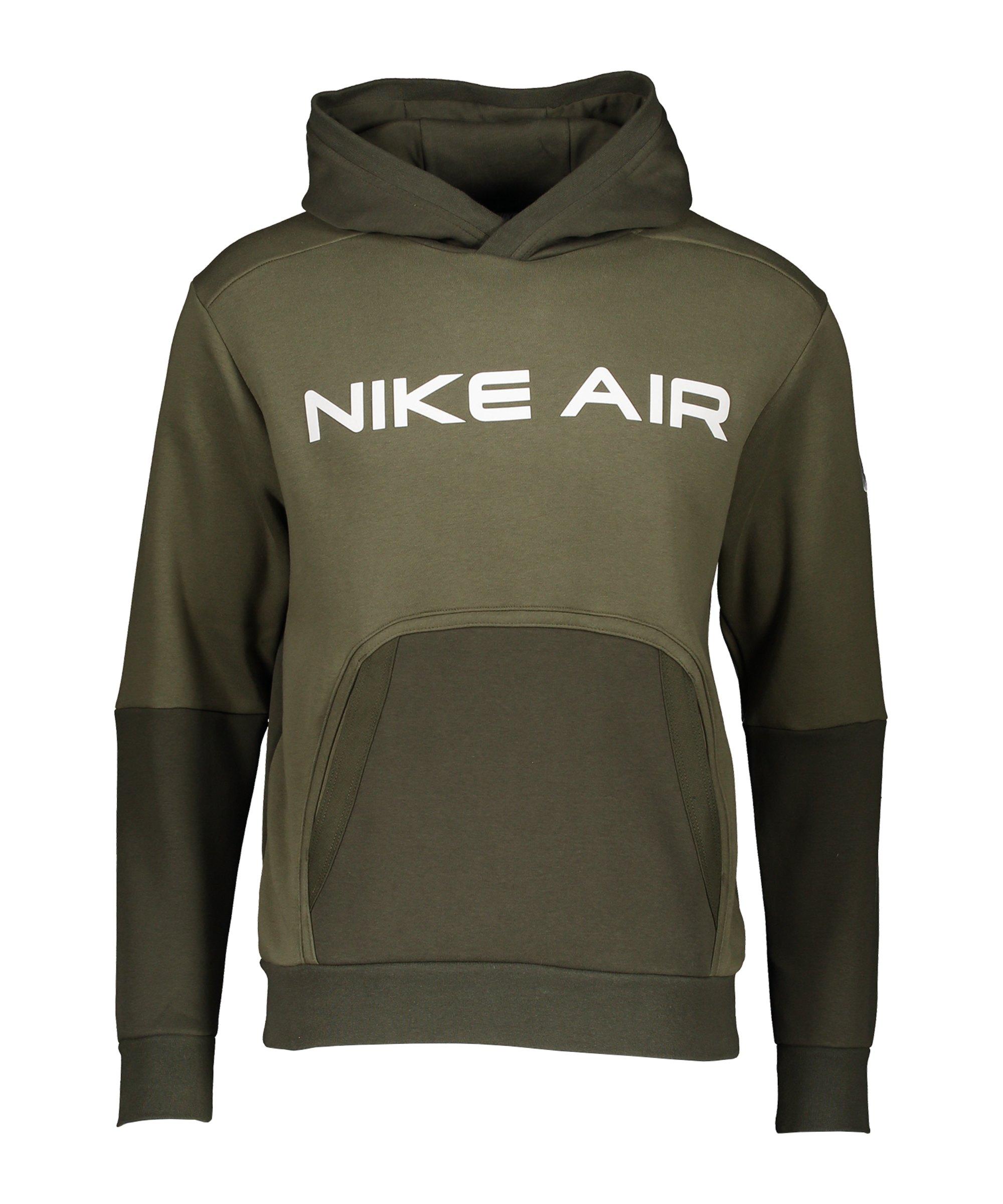 Nike Air Fleece Hoody Grün Weiss F222 - gruen