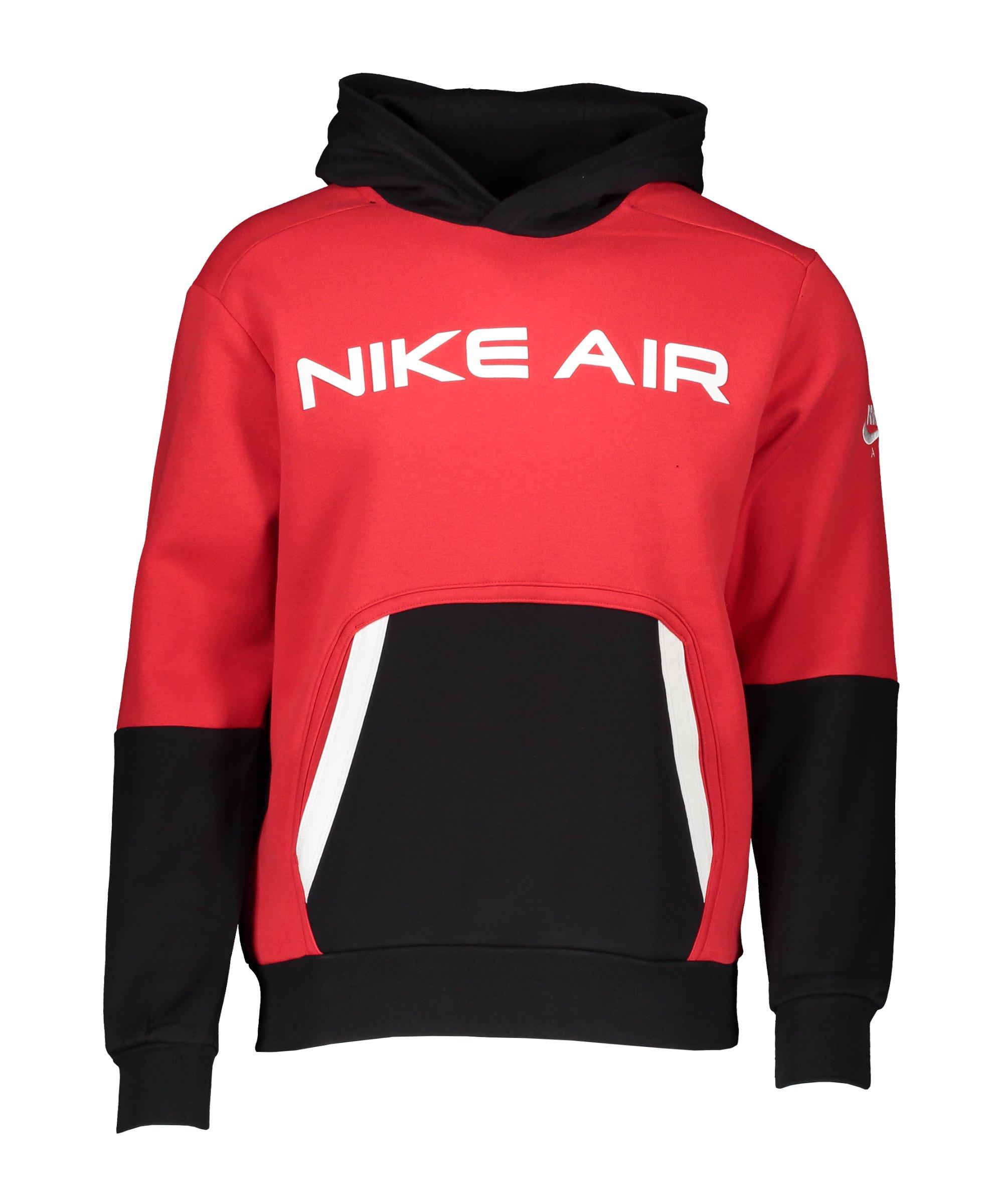 Nike Air Fleece Hoody Rot Schwarz Weiss F657 - rot