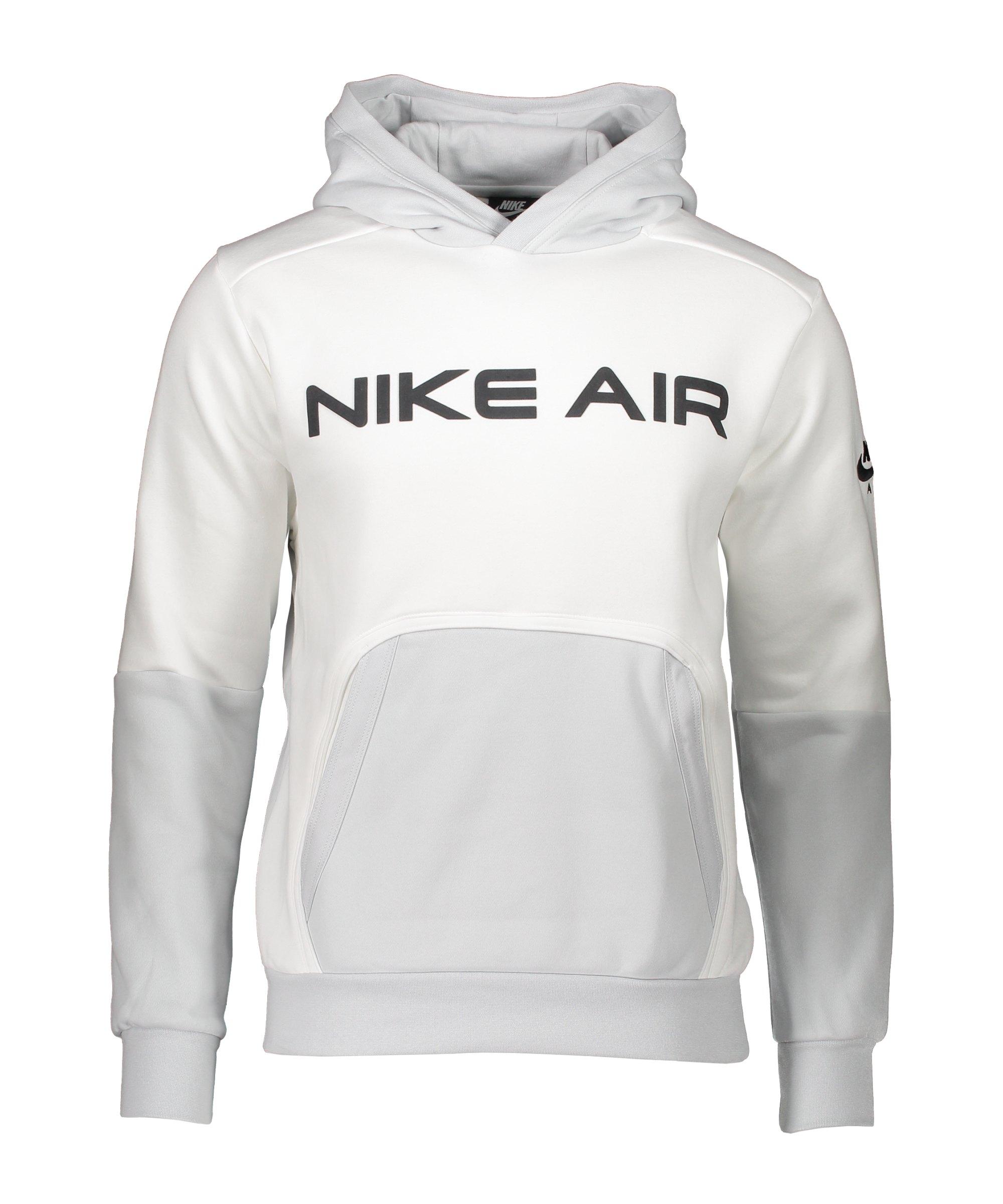 Nike Air Fleece Hoody Weiss Schwarz F100 - weiss