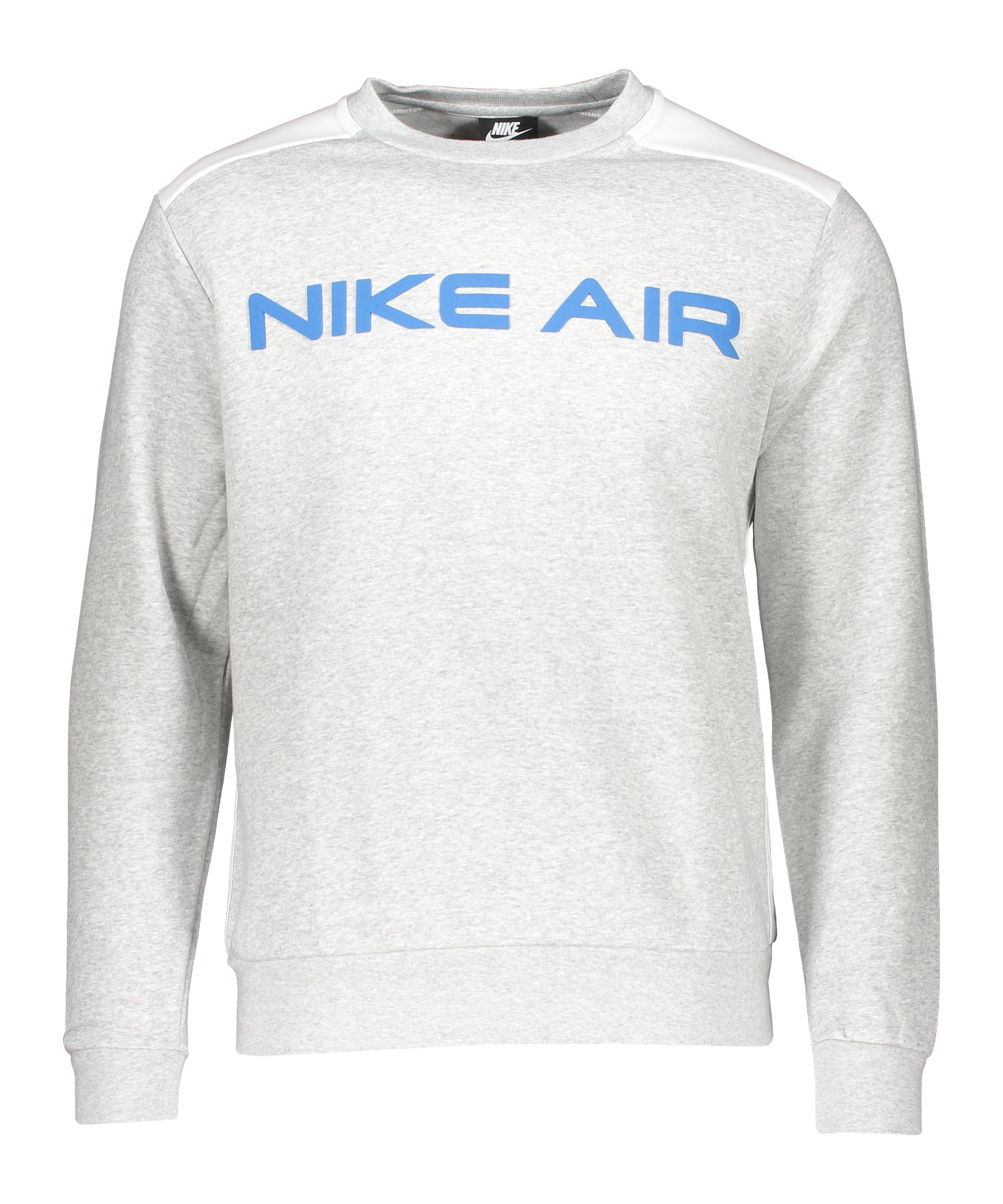 Nike Air Fleece Sweatshirt Grau Weiss F052 - grau