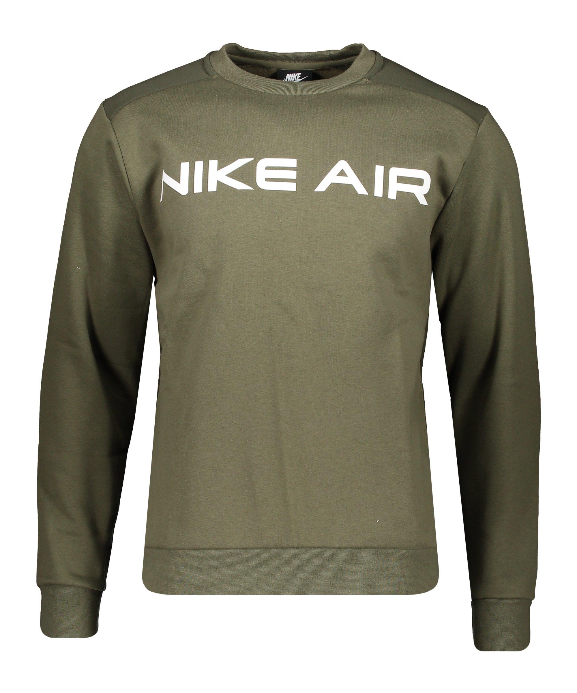Nike Air Fleece Sweatshirt Grün F222 - gruen