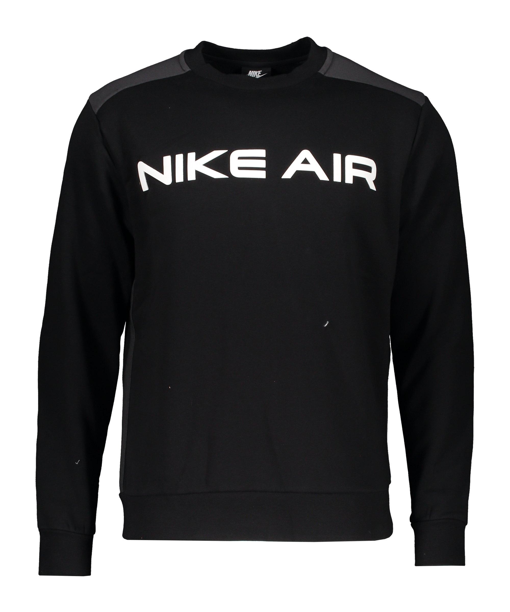 Nike Air Fleece Sweatshirt Schwarz Grau F010 - schwarz