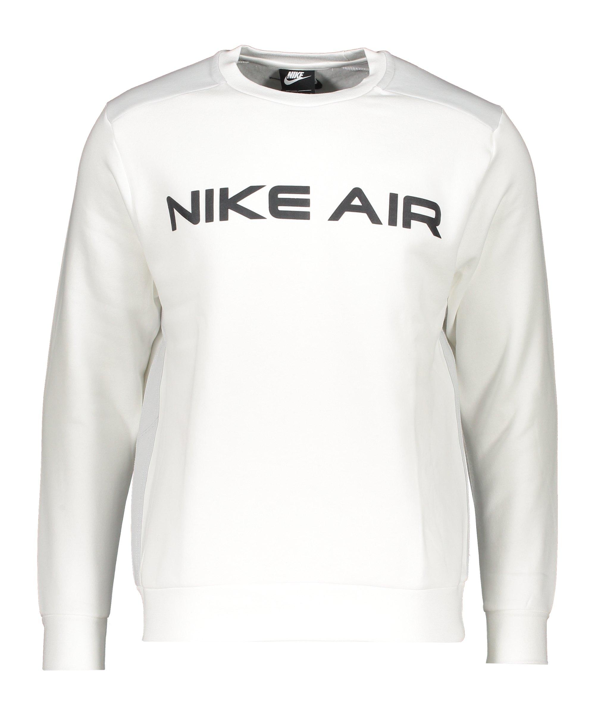 Nike Air Fleece Sweatshirt Weiss Grau F100 - weiss