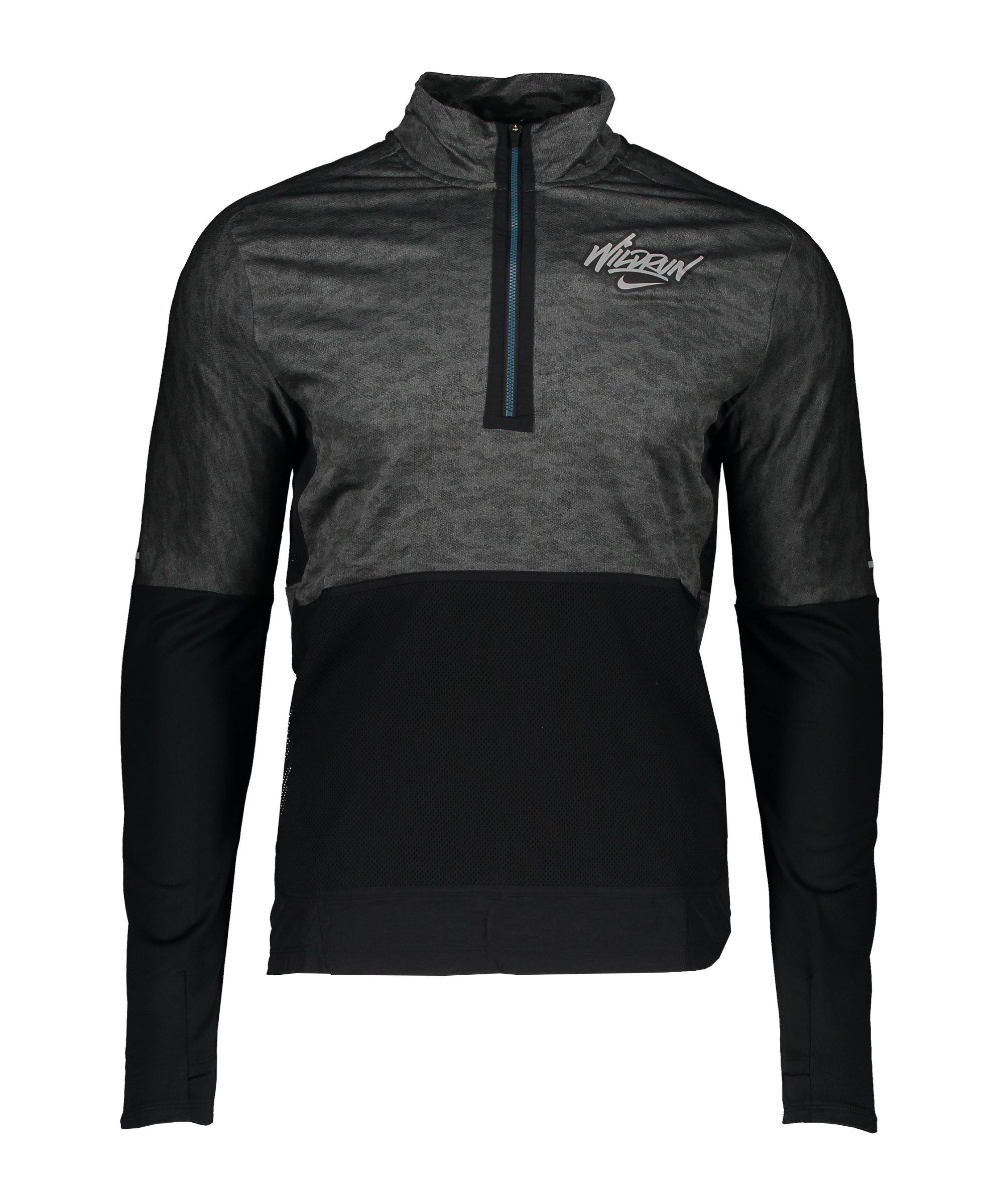 Nike Element Drill Top Running Grau F068 - grau