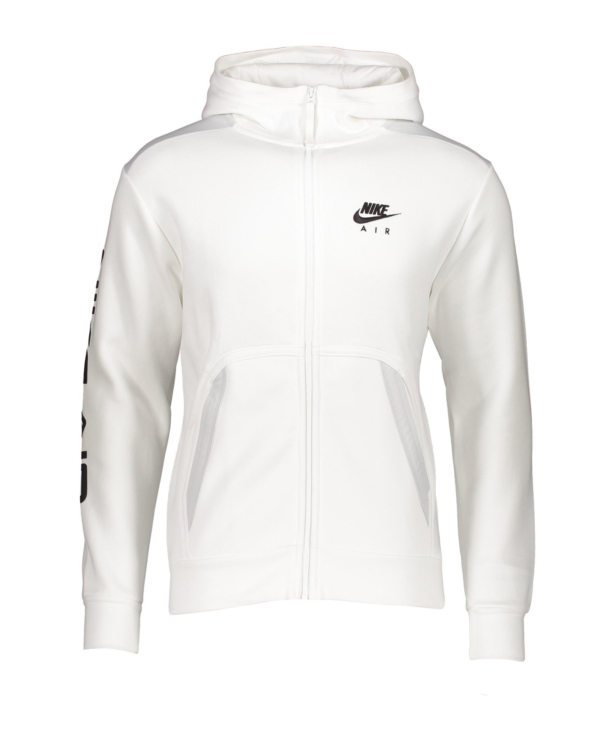 Nike Air Fleece Kapuzenjacke Weiss F100 - weiss