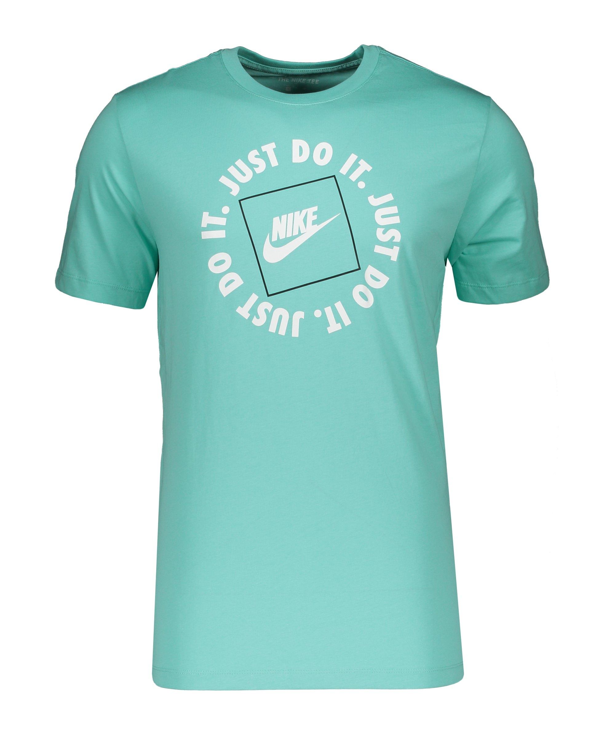 Nike Just Do It HBR T-Shirt Grün Weiss F307 - gruen