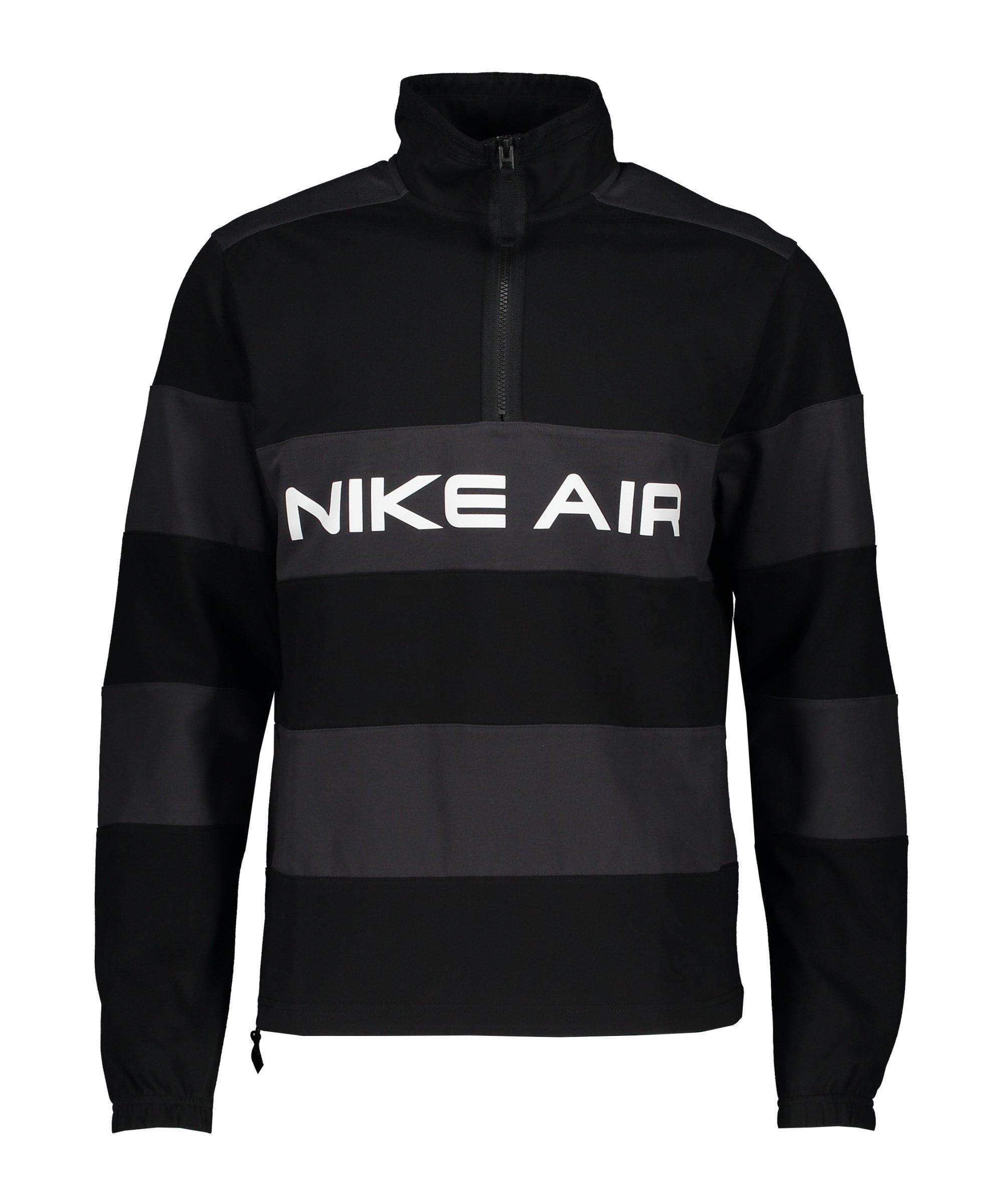 Nike Air Midlayer Sweatshirt Schwarz Grau F010 - schwarz