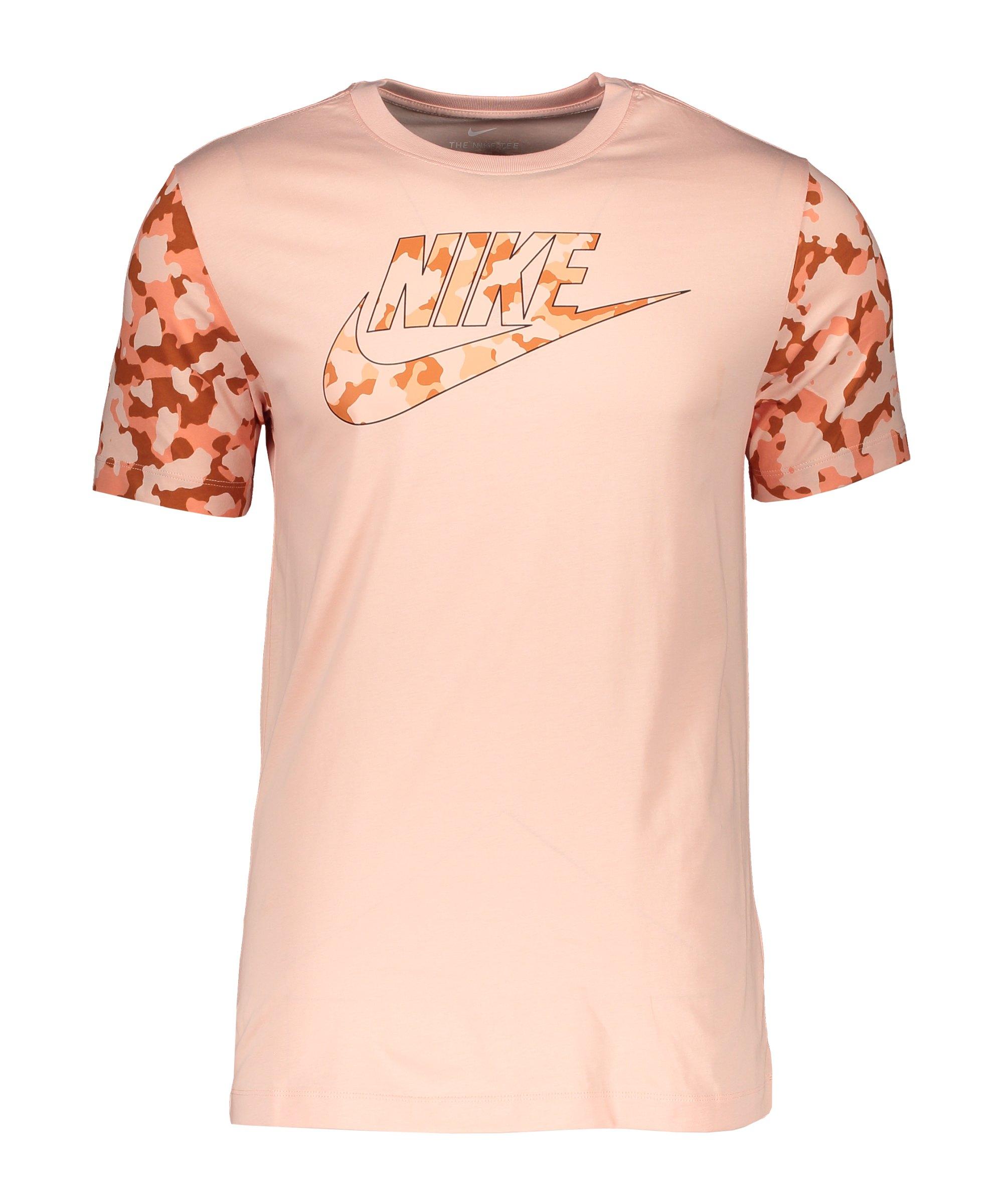 Nike Classic Graphic Camo T-Shirt Rosa F800 - orange