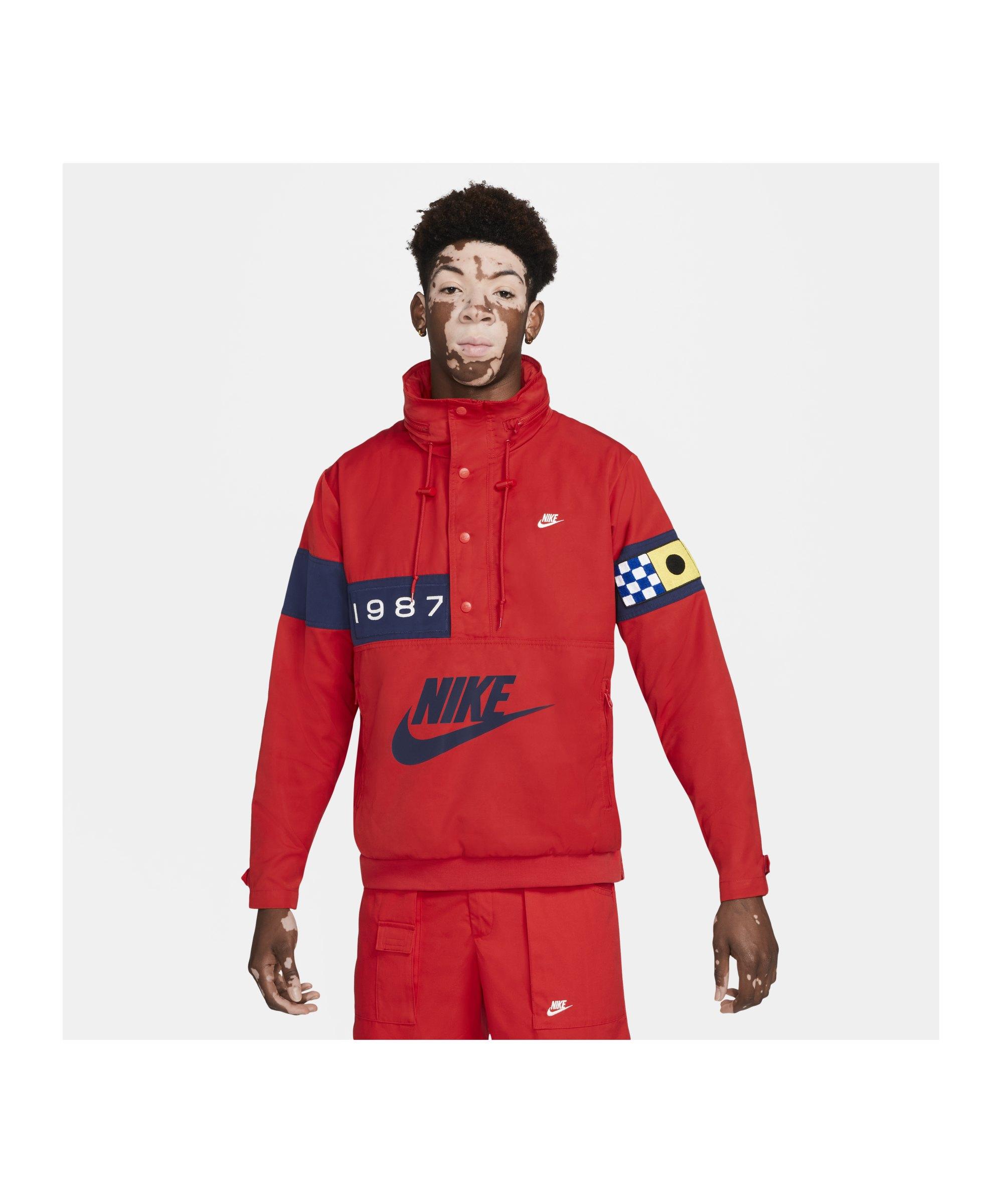 Nike Reissue Walliwaw Woven Jacke Rot F657 - rot