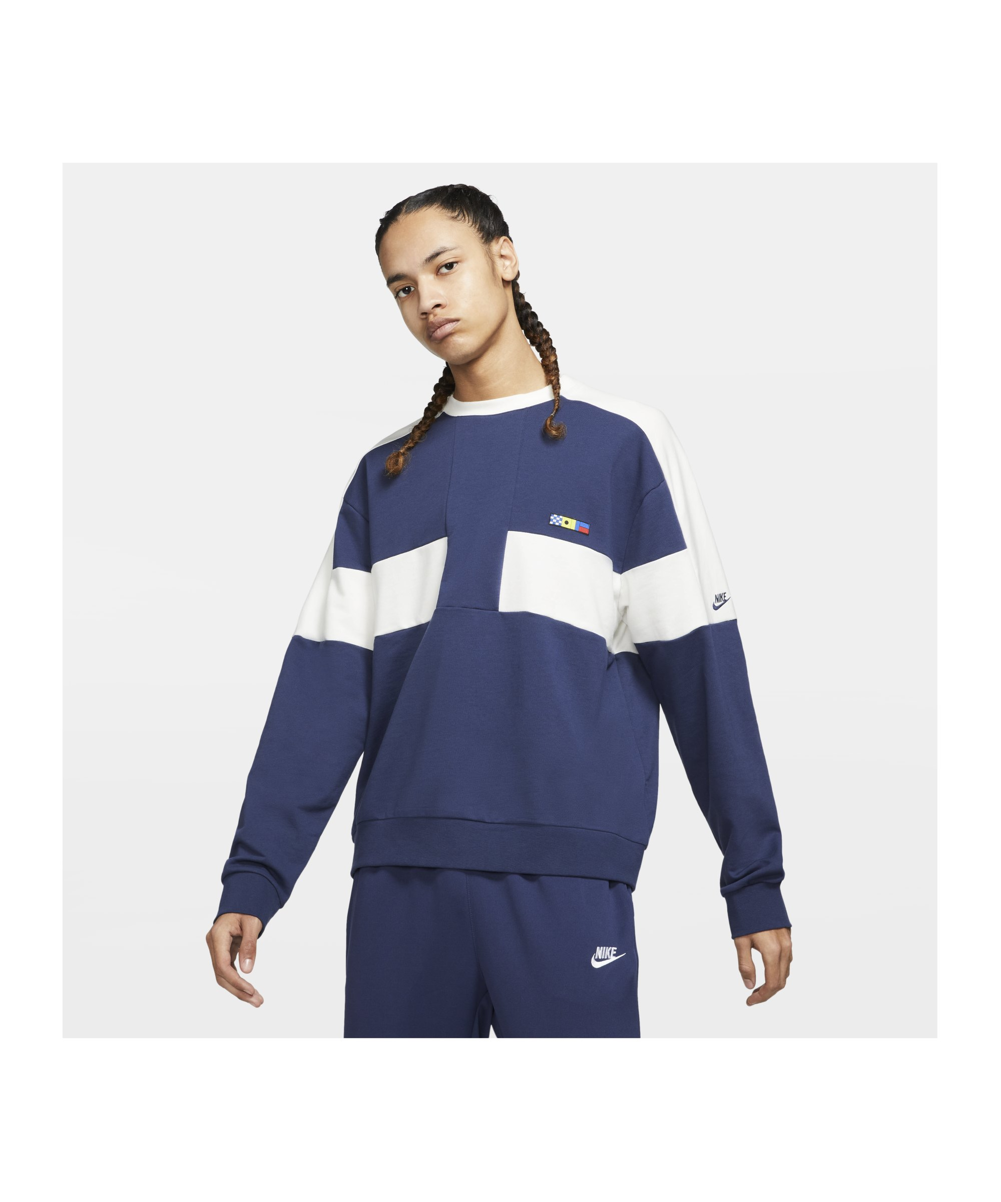Nike Reissue Fairlead Sweatshirt Blau Weiss F410 - blau