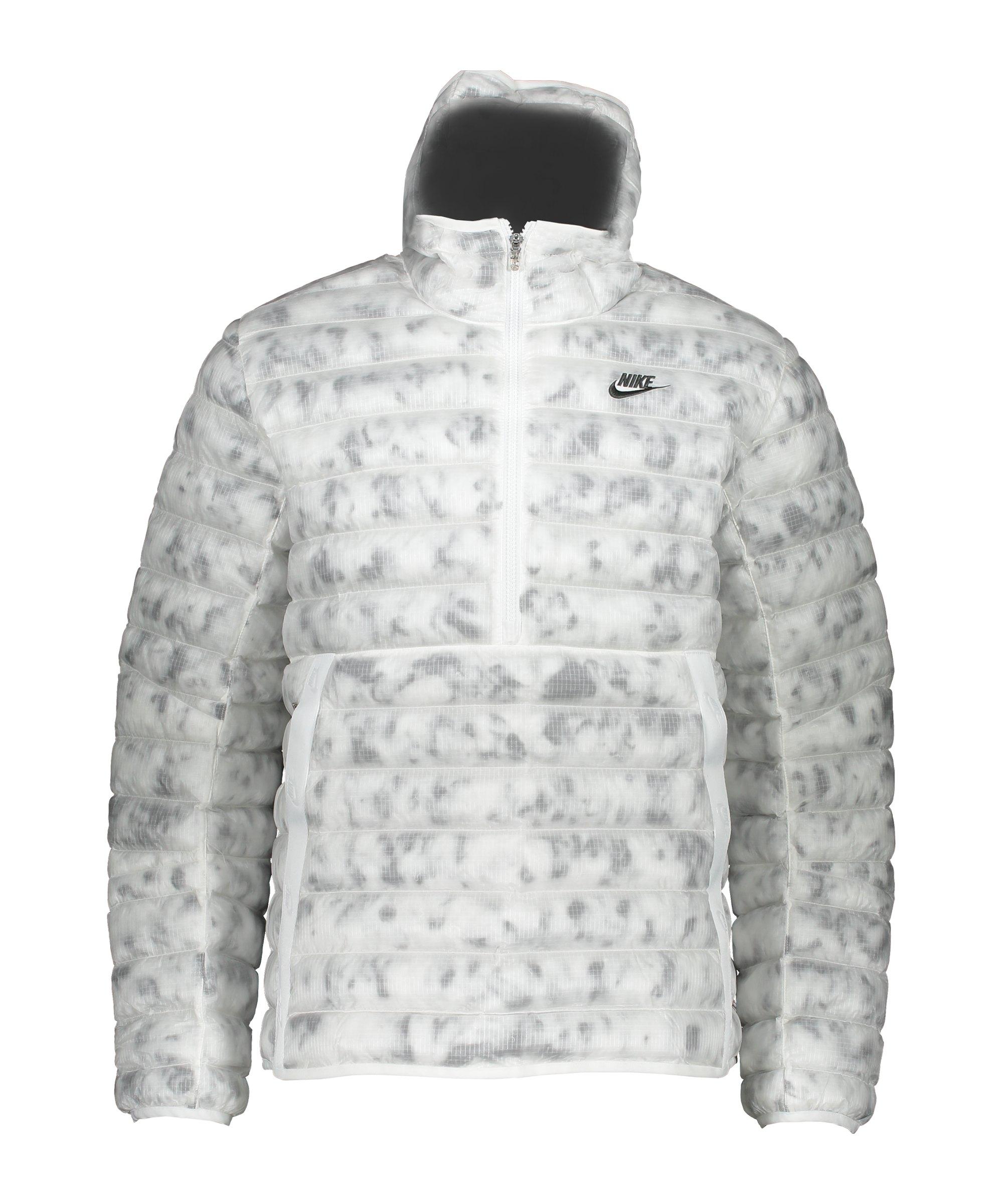 Nike Marble Insulation Jacke Weiss Grau F121 - weiss