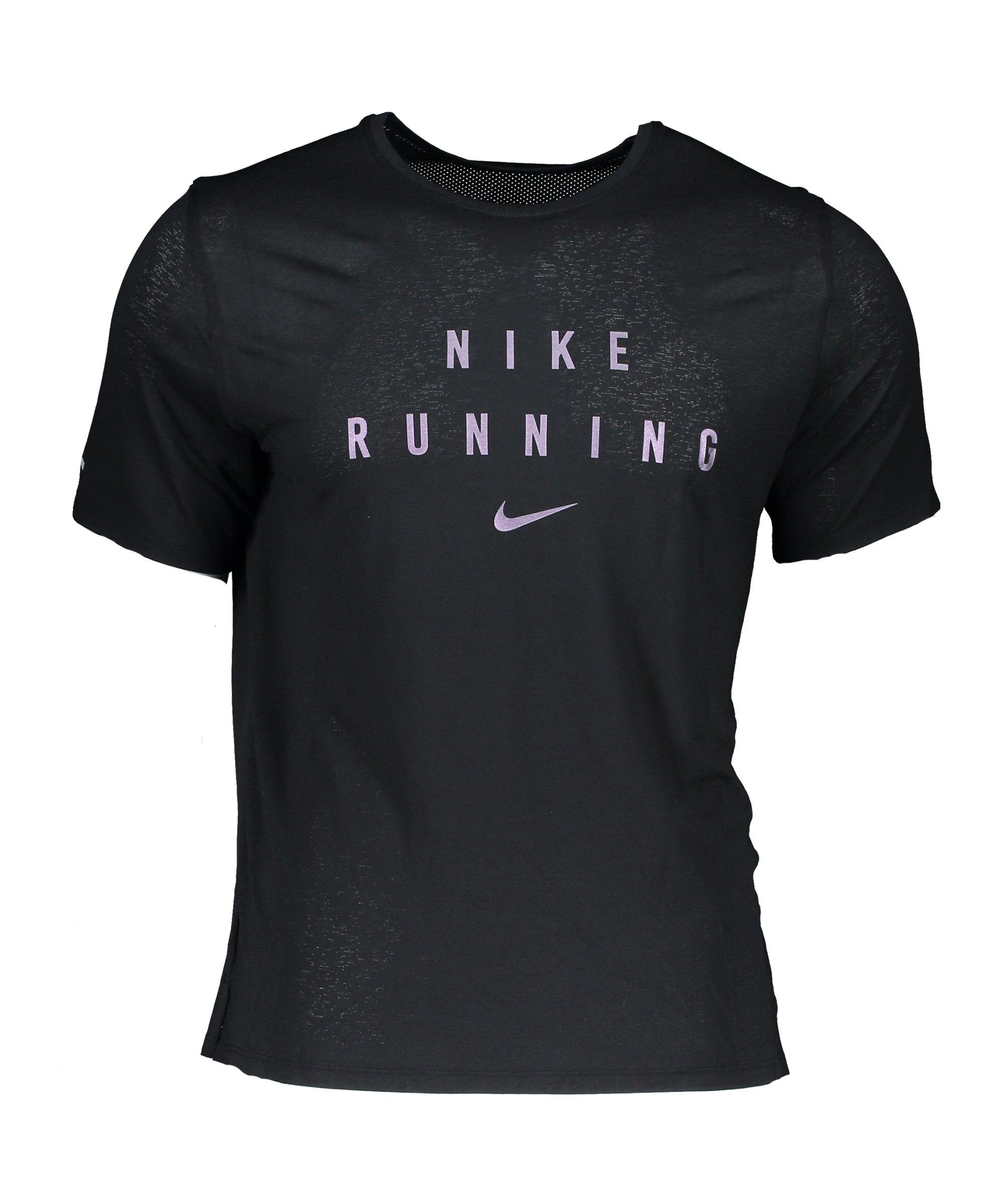 Nike Miler GX T-Shirt Running Schwarz F010 - schwarz