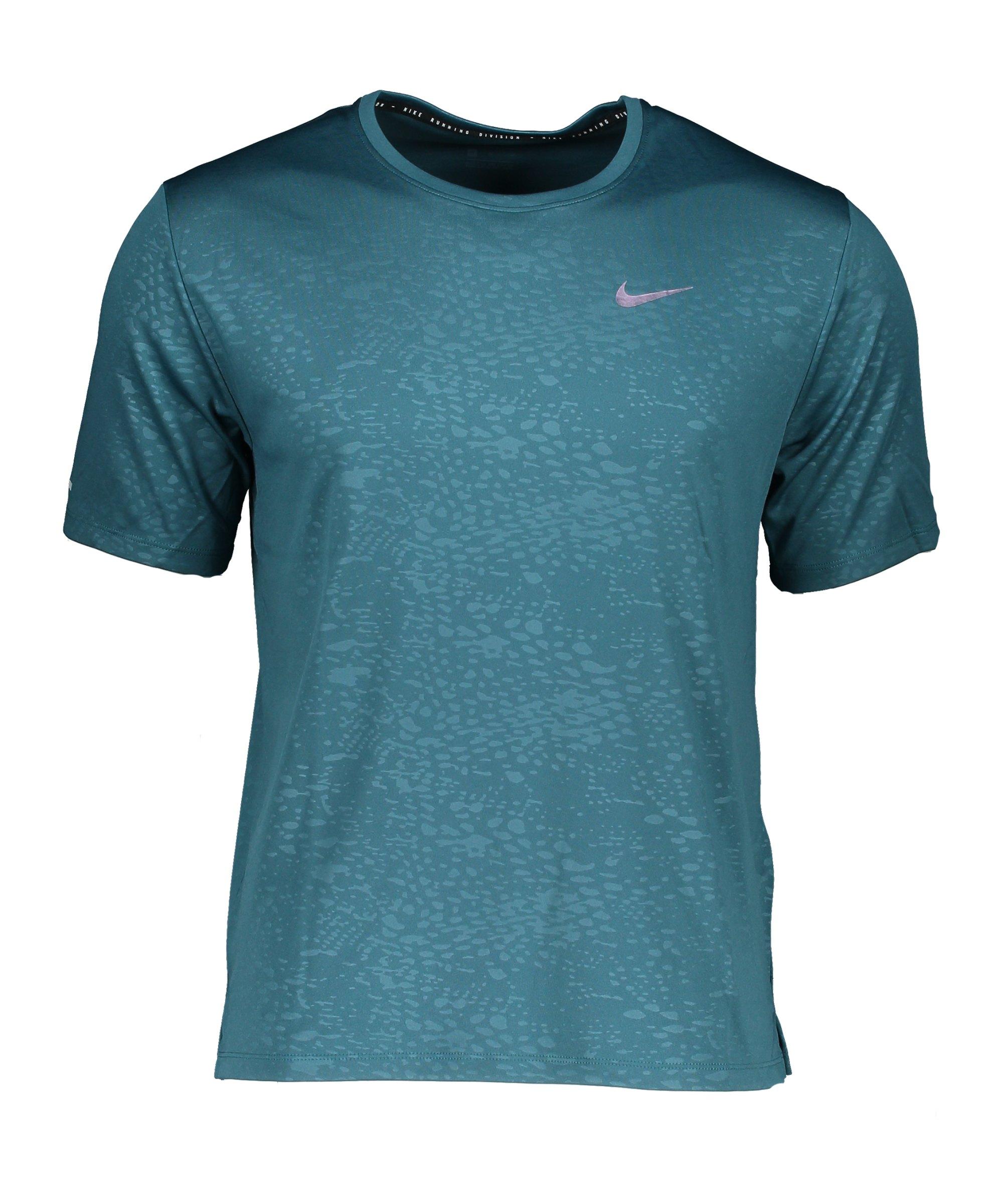 Nike Miler Division T-Shirt Running Grün F393 - gruen