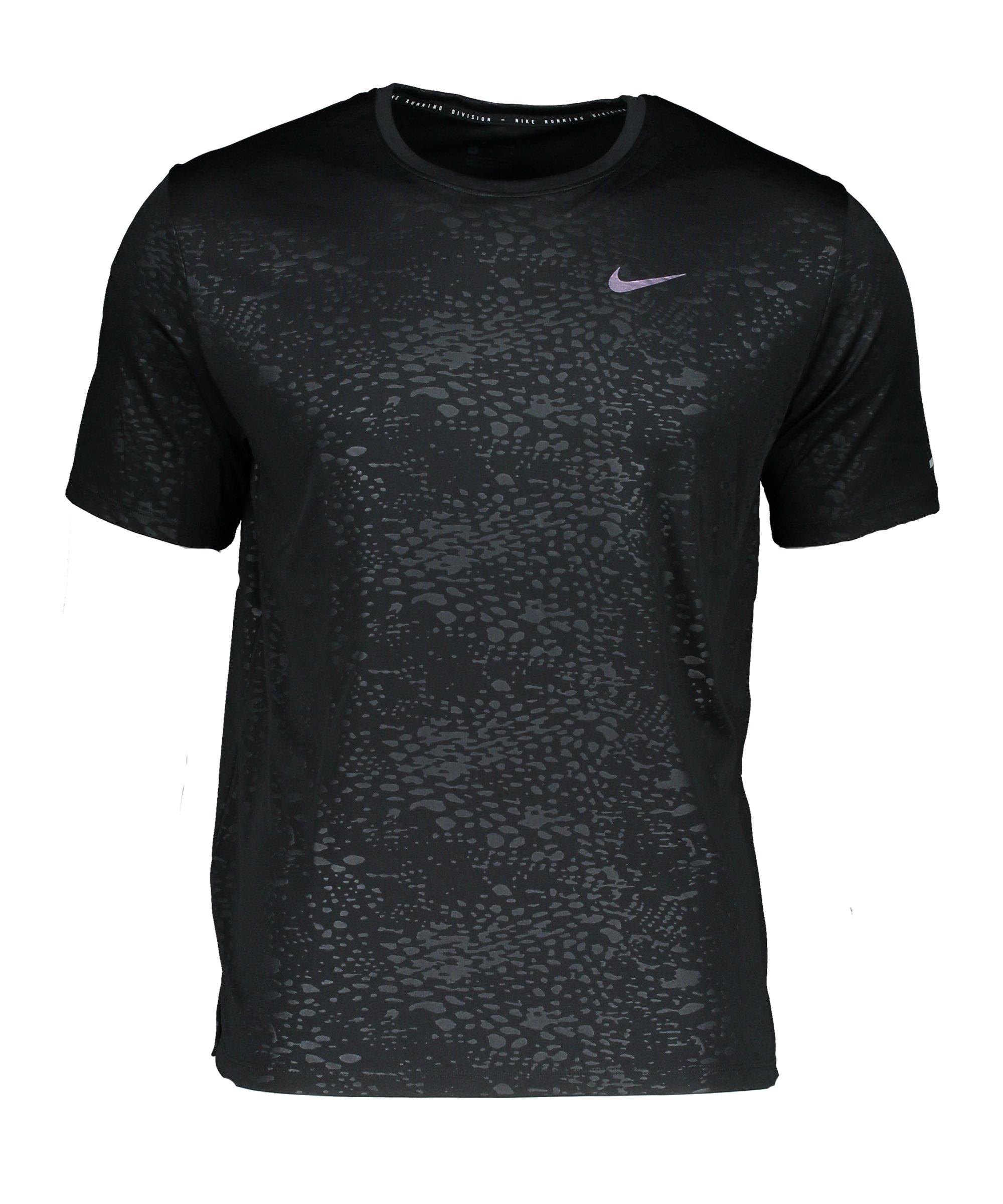 Nike Miler Division T-Shirt Running Schwarz F010 - schwarz