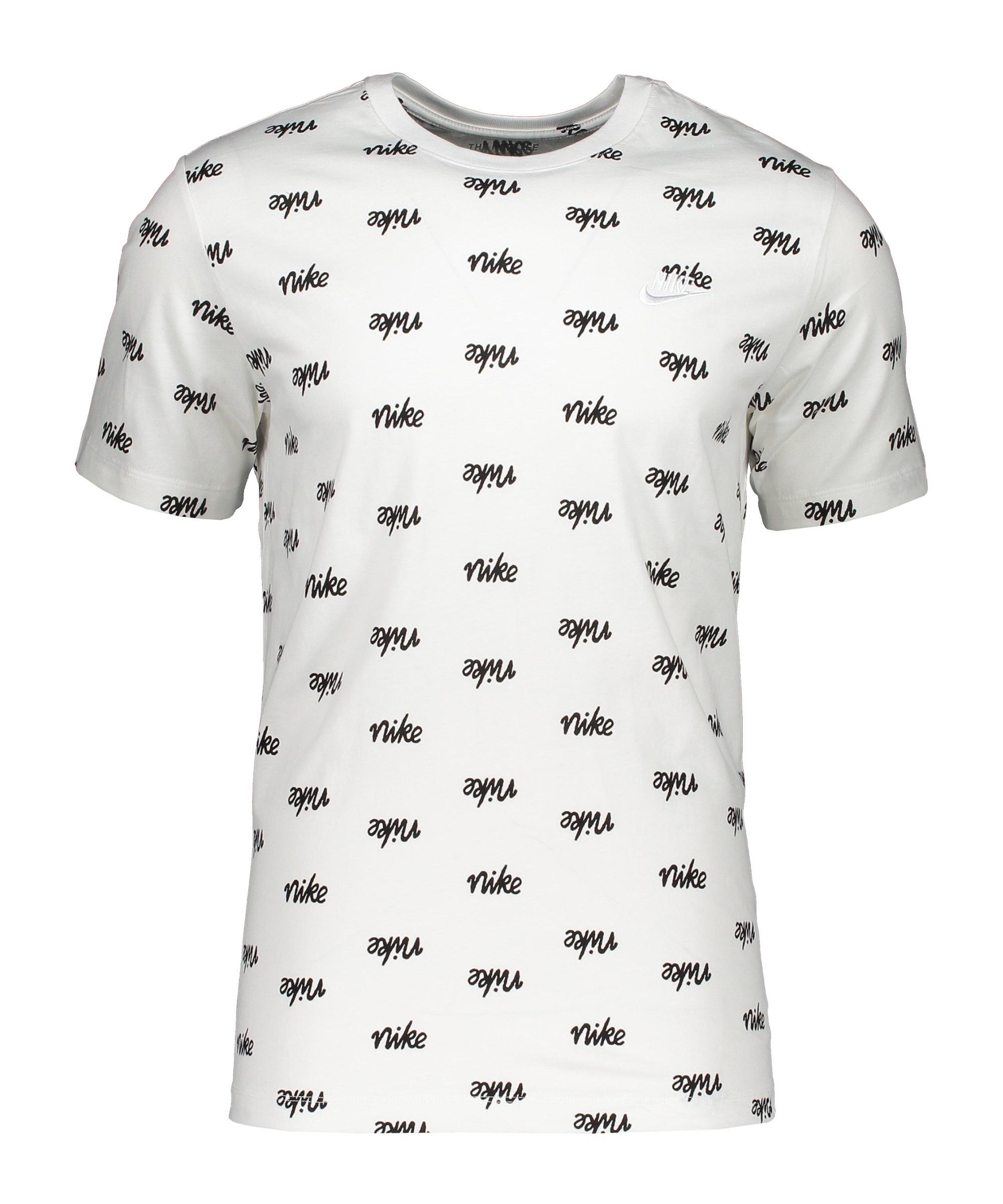 Nike Printed Club T-Shirt Weiss F100 - weiss
