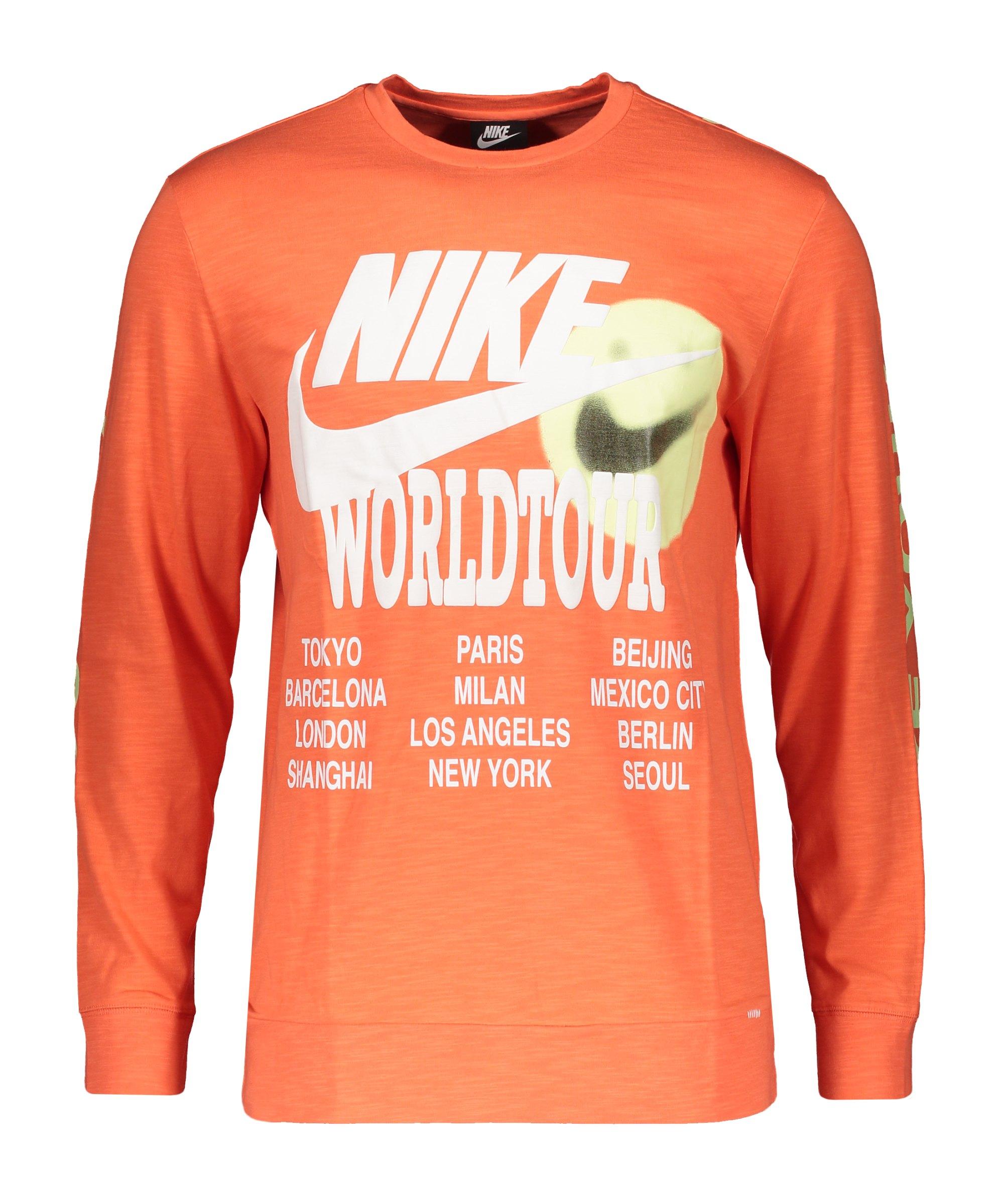 Nike World Wour Sweatshirt Orange F842 - orange