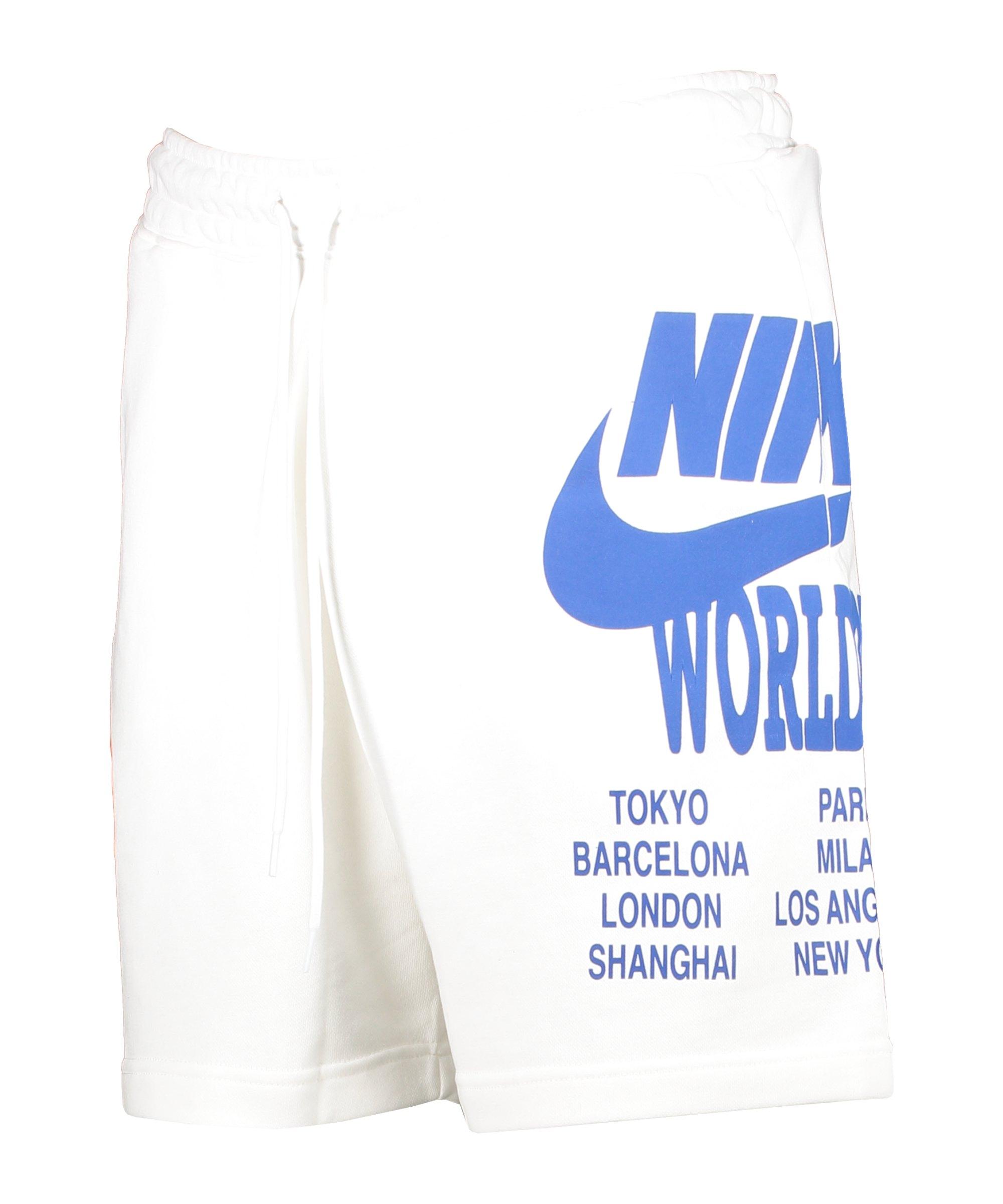 Nike World Tour Short Weiss F100 - weiss