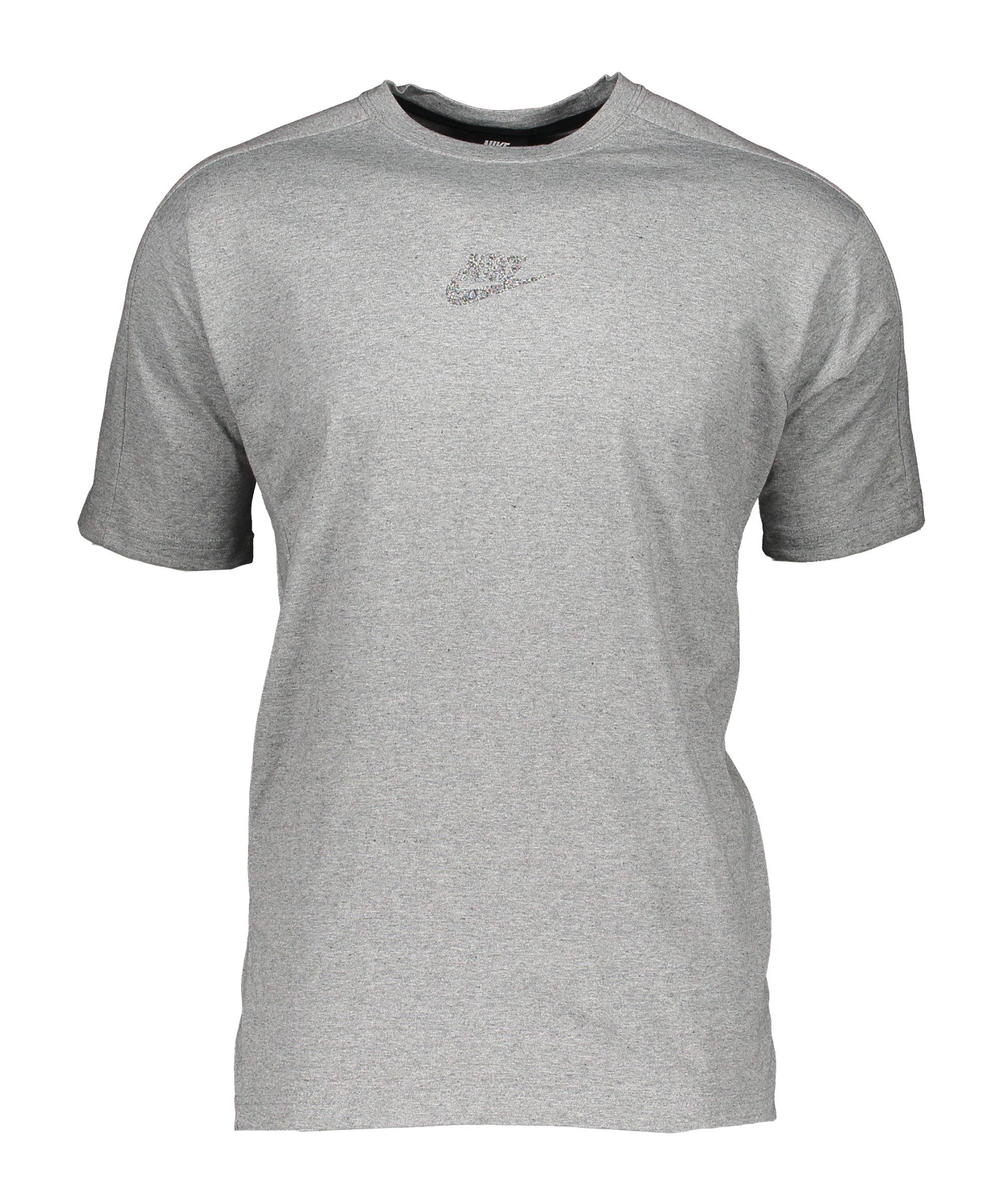 Nike Revival T-Shirt Schwarz Grau F010 - schwarz