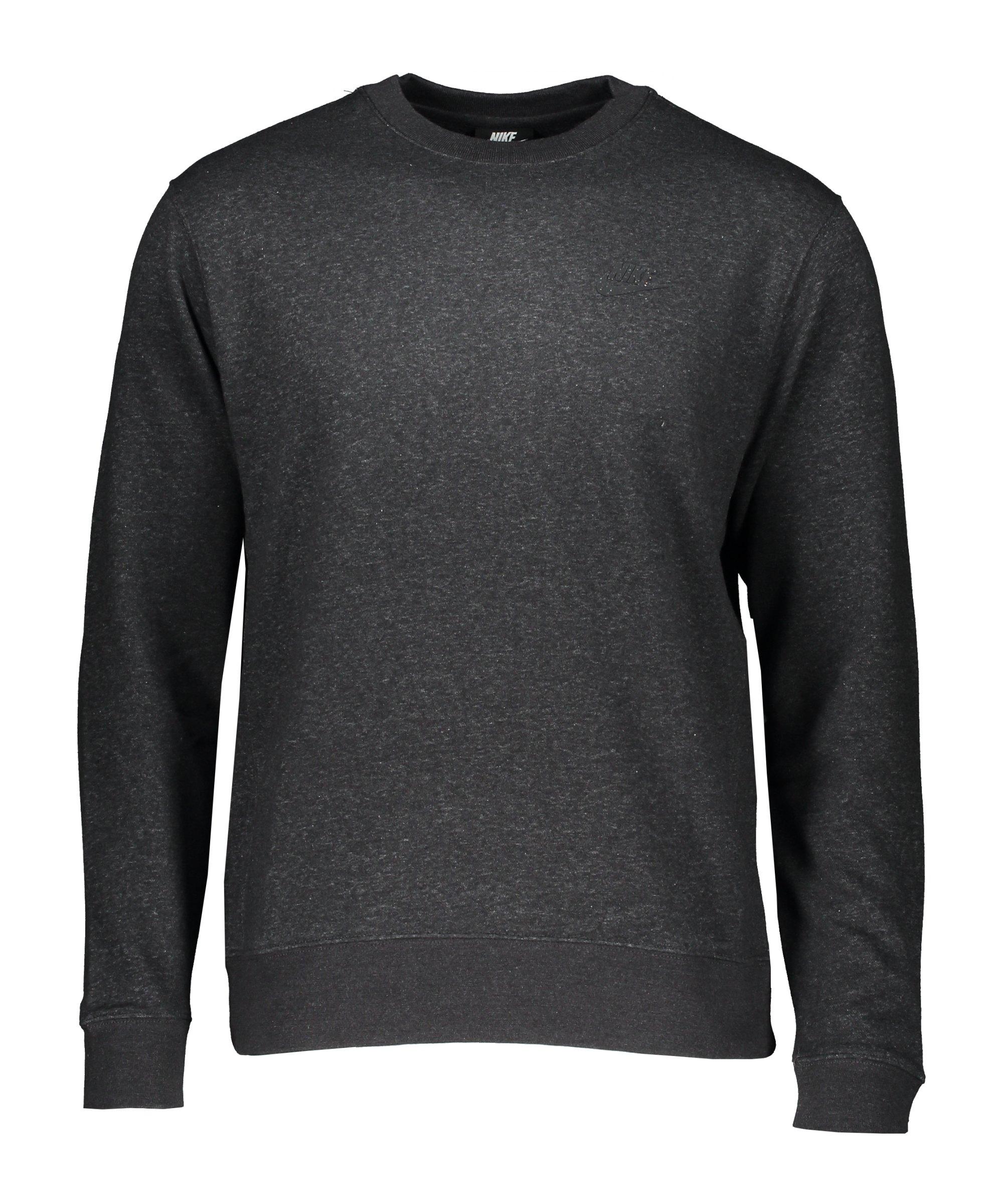 Nike Crew Revival Sweatshirt Schwarz Grau F010 - schwarz