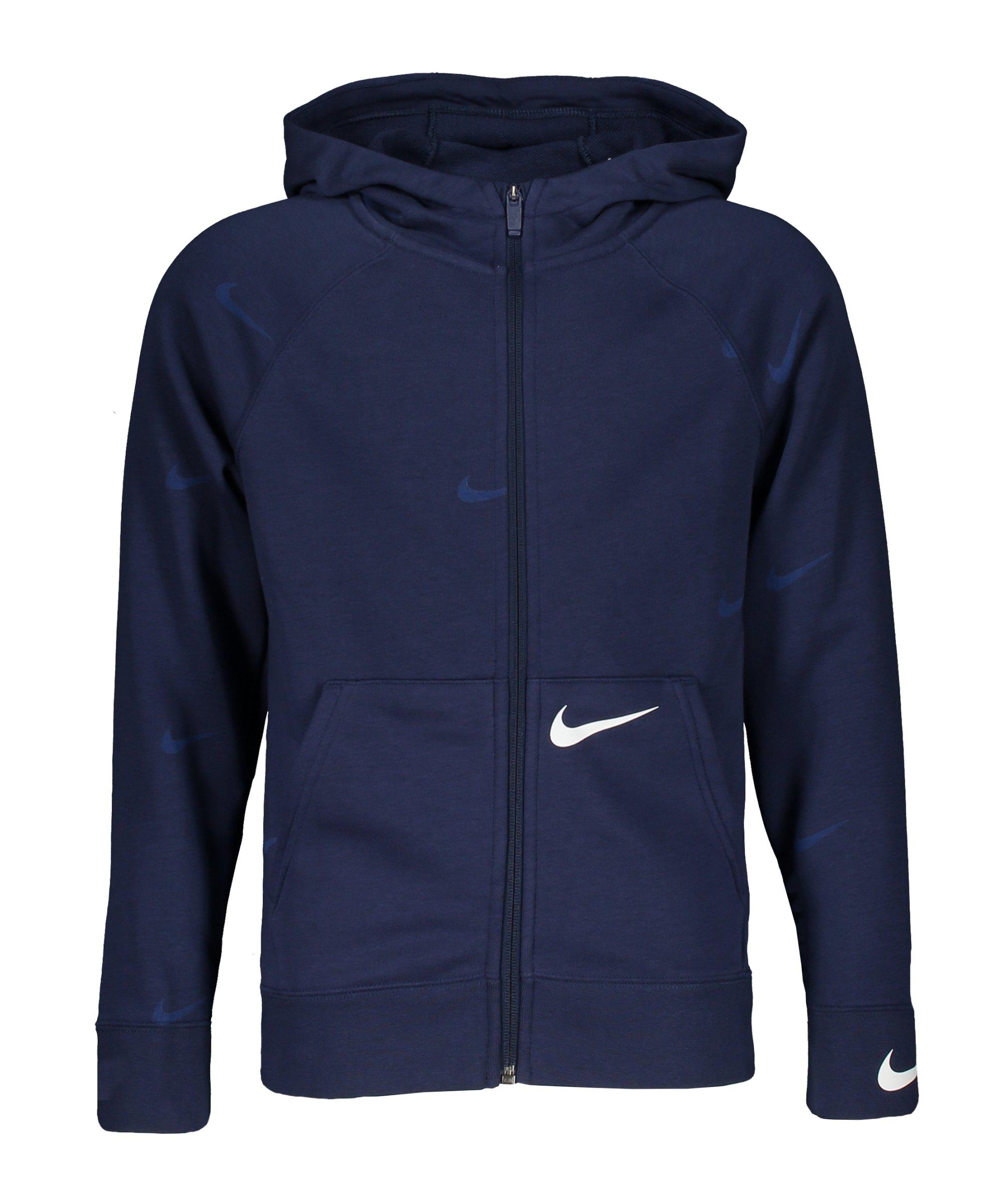 Nike Swoosh Kapuzenjacke Kids Blau F410 - blau