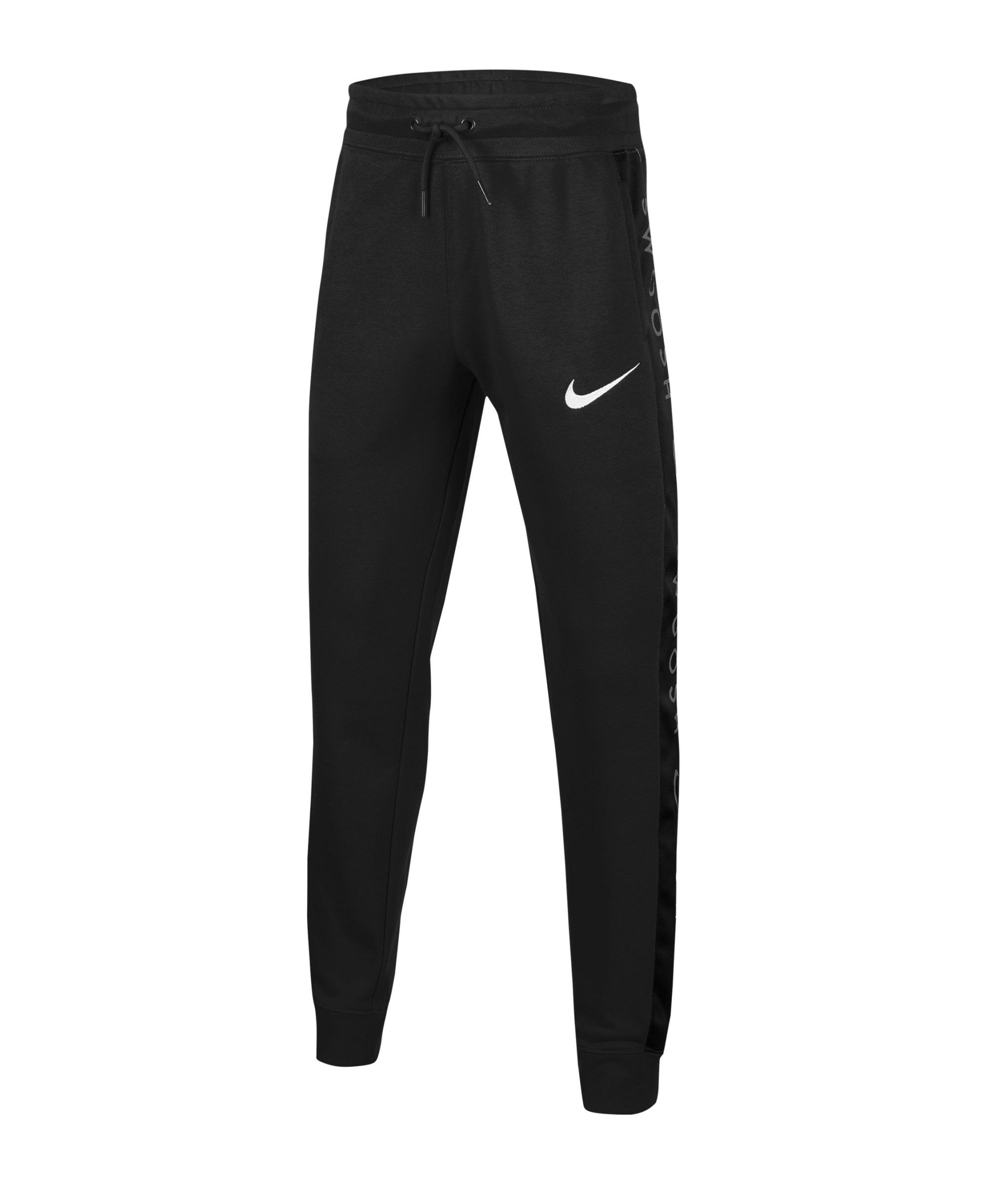 Nike Swoosh Jogginghose Kids Schwarz F010 - schwarz