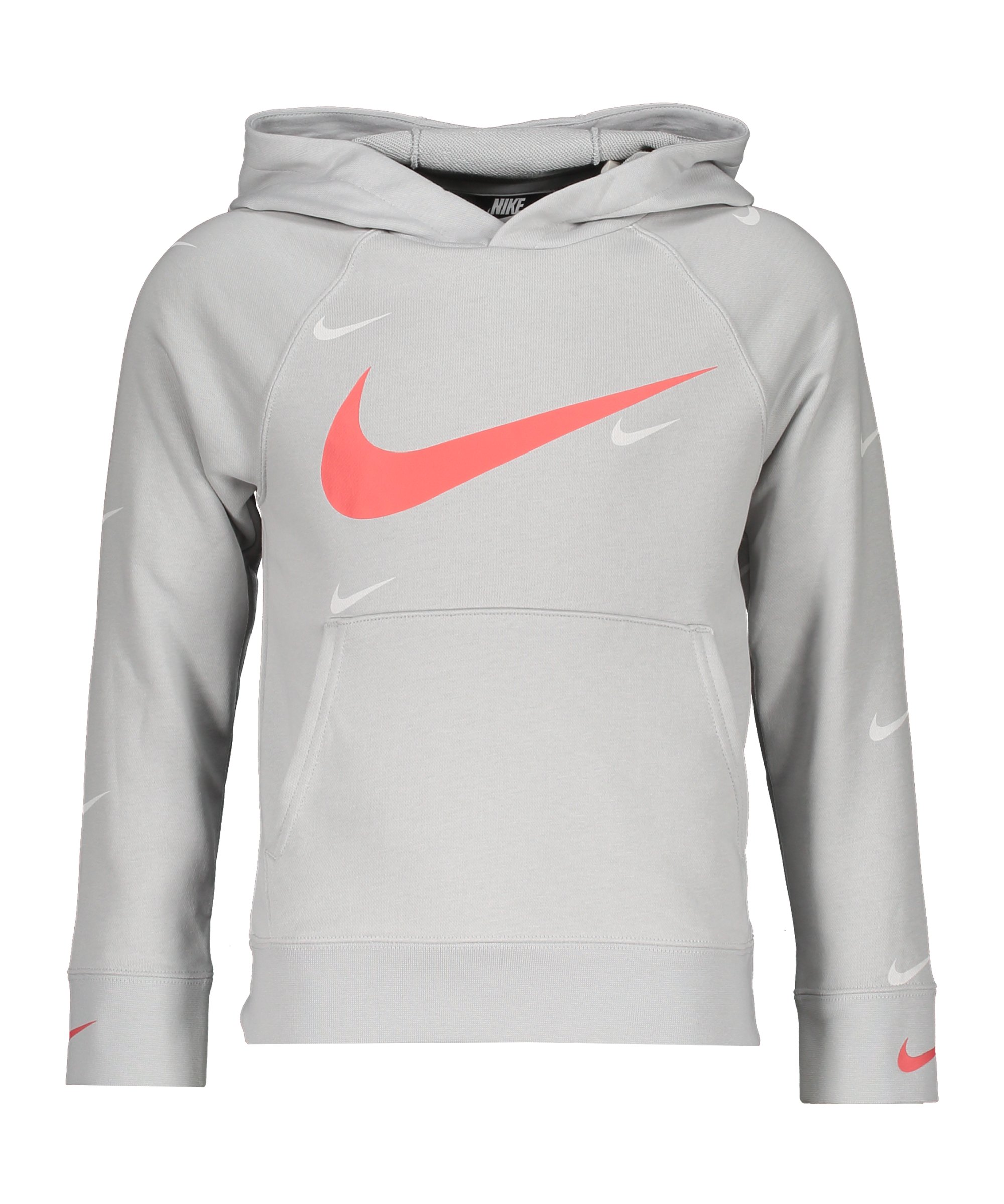 Nike Swoosh Hoody Kids Grau F097 - grau