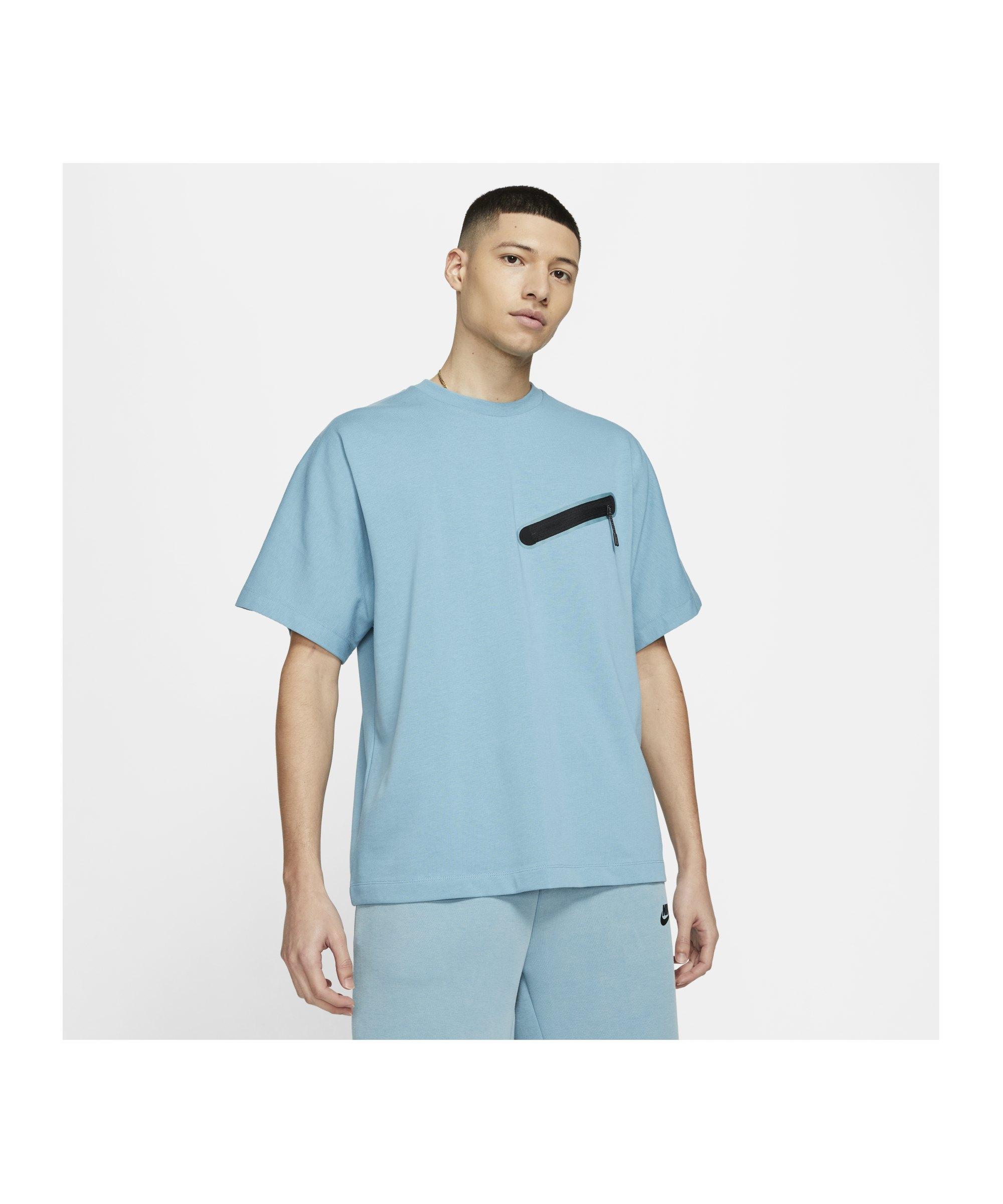 Nike Knit T-Shirt Blau F424 - blau
