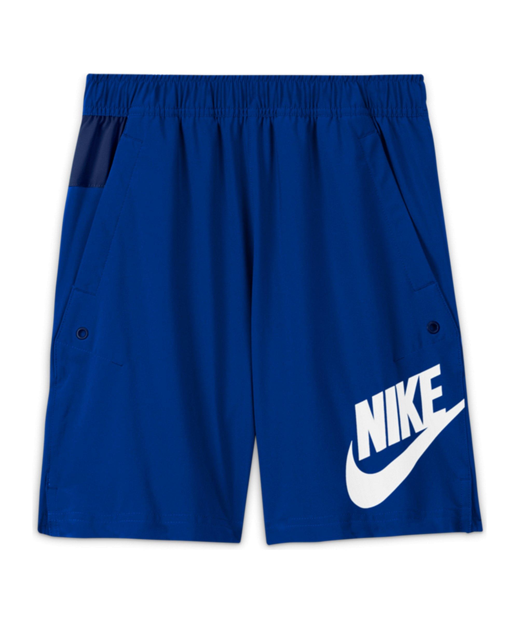 Nike Woven HBR Short Kids Blau F480 - blau