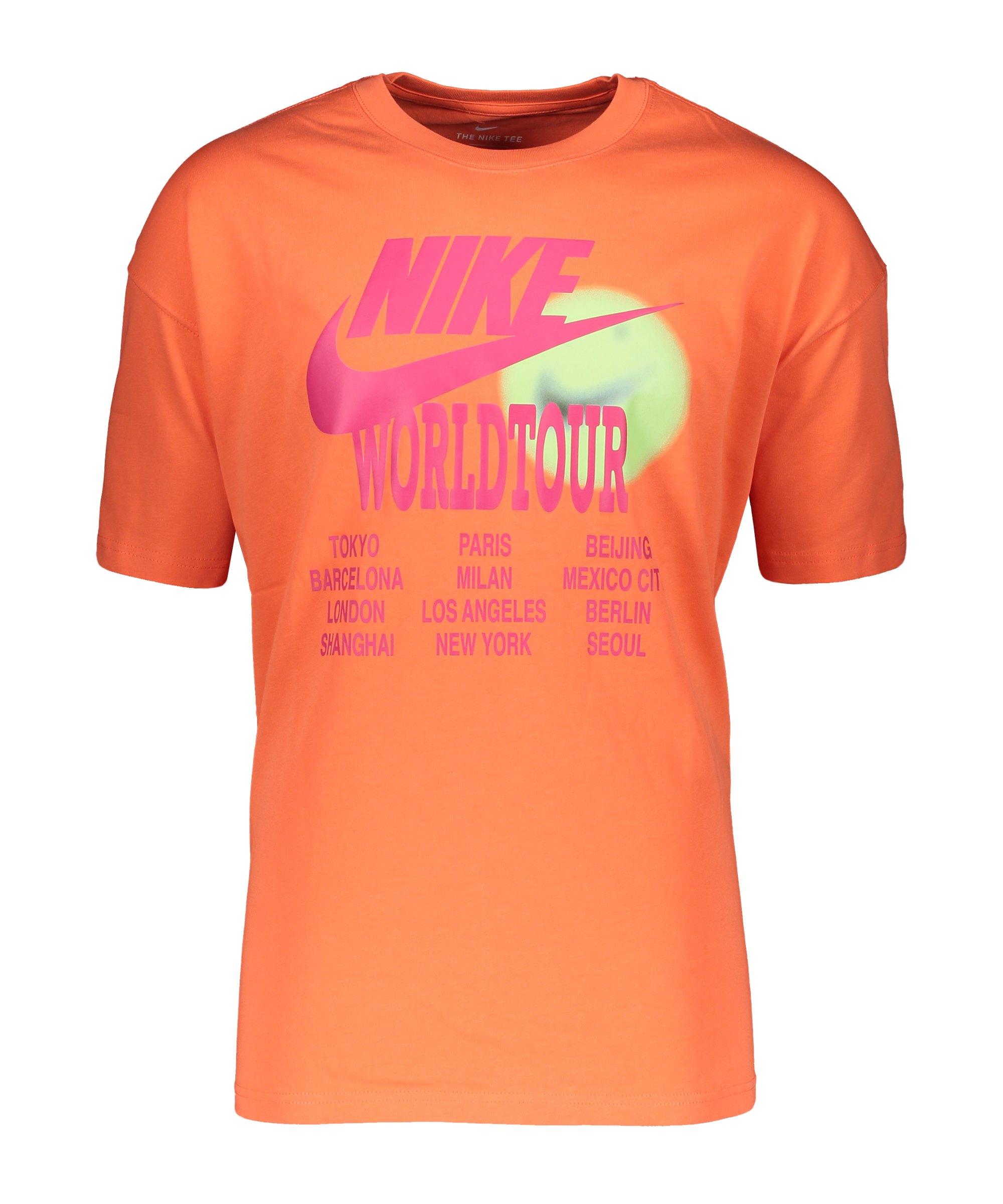 Nike Graphic World Tour T-Shirt Orange F842 - orange