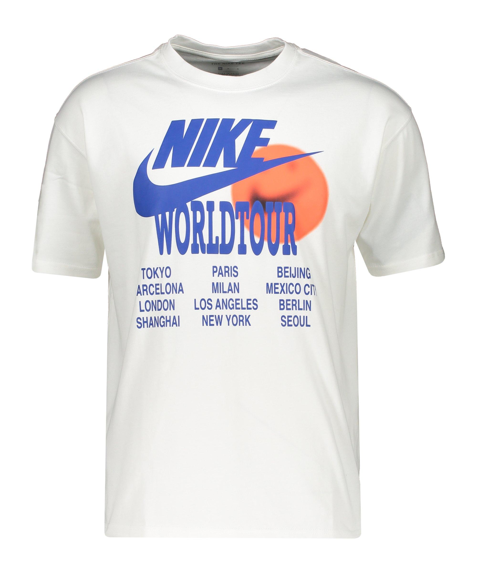 Nike Graphic World Tour T-Shirt Weiss F100 - weiss