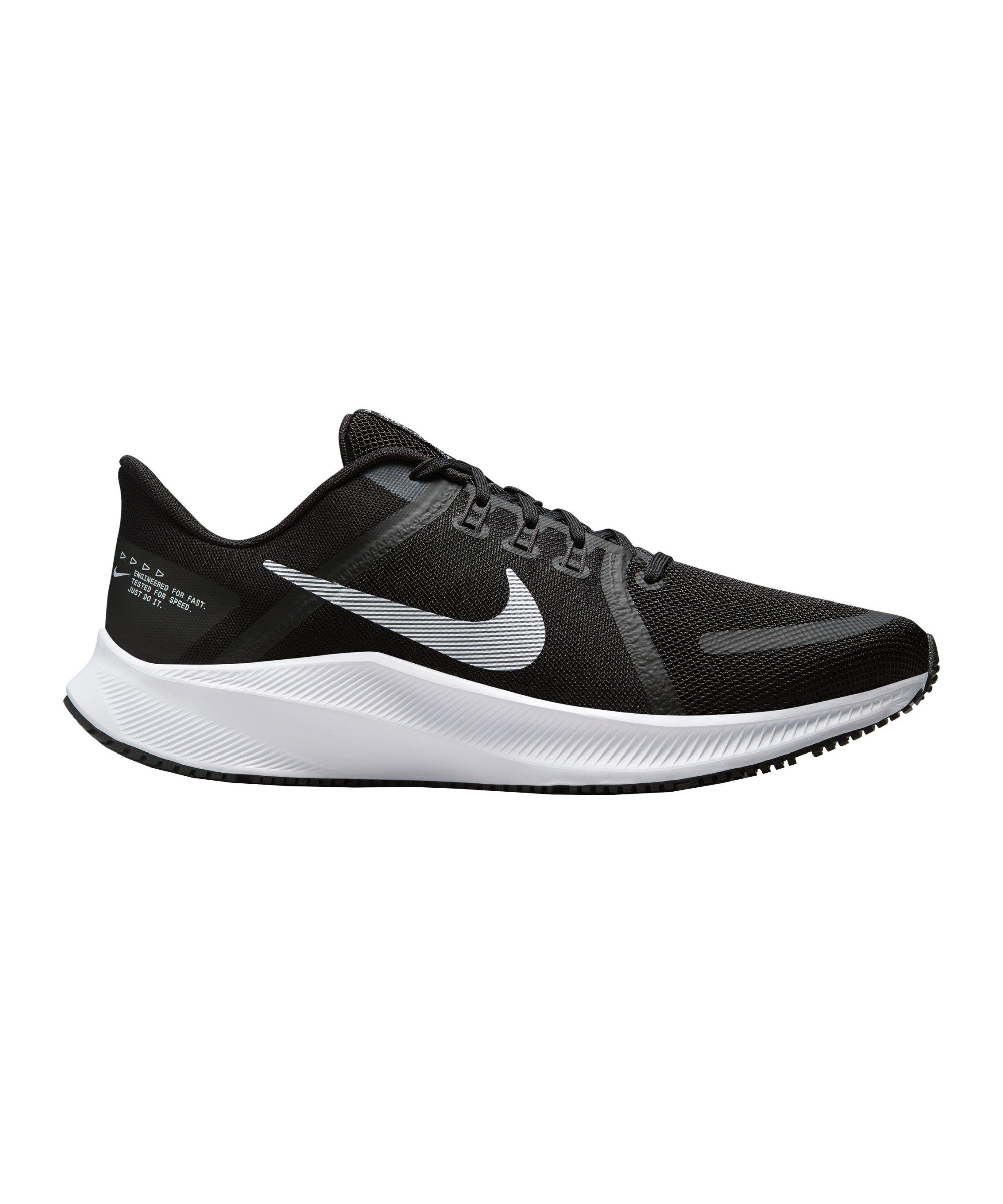 Nike Quest 4 Running Schwarz Weiss Grau F006 - schwarz