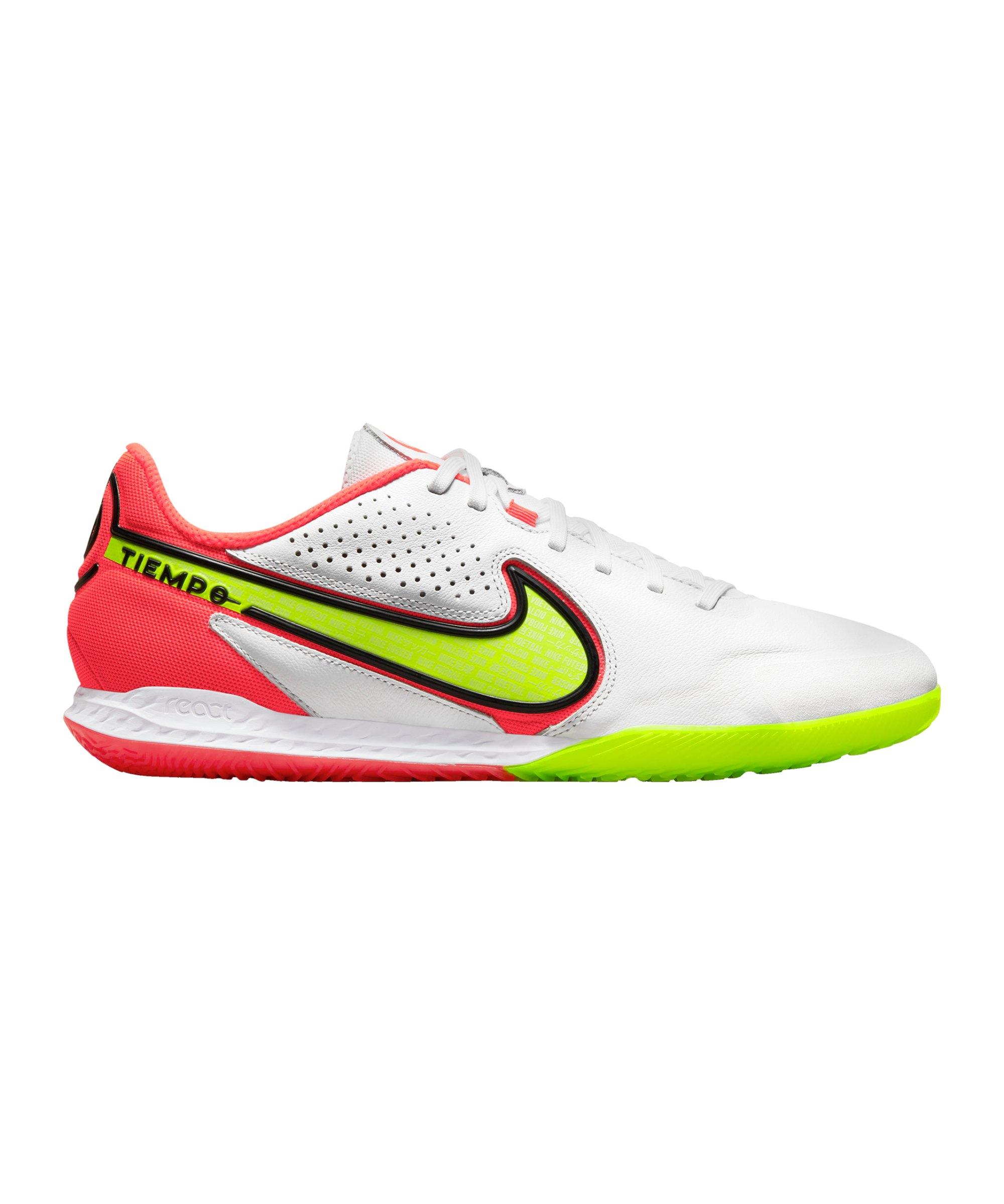 Nike React Tiempo Legend IX Motivation Pro IC Halle Weiss F176 - weiss