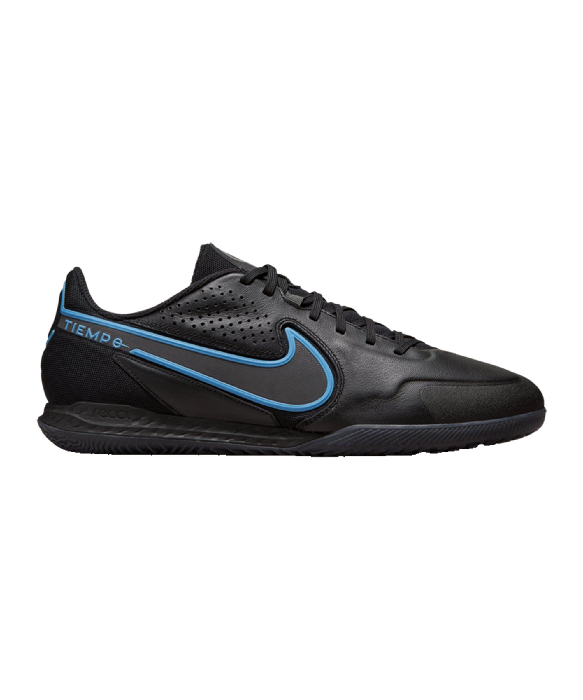 Nike React Tiempo Legend IX Renew Pro IC Halle Schwarz Blau F004 - schwarz