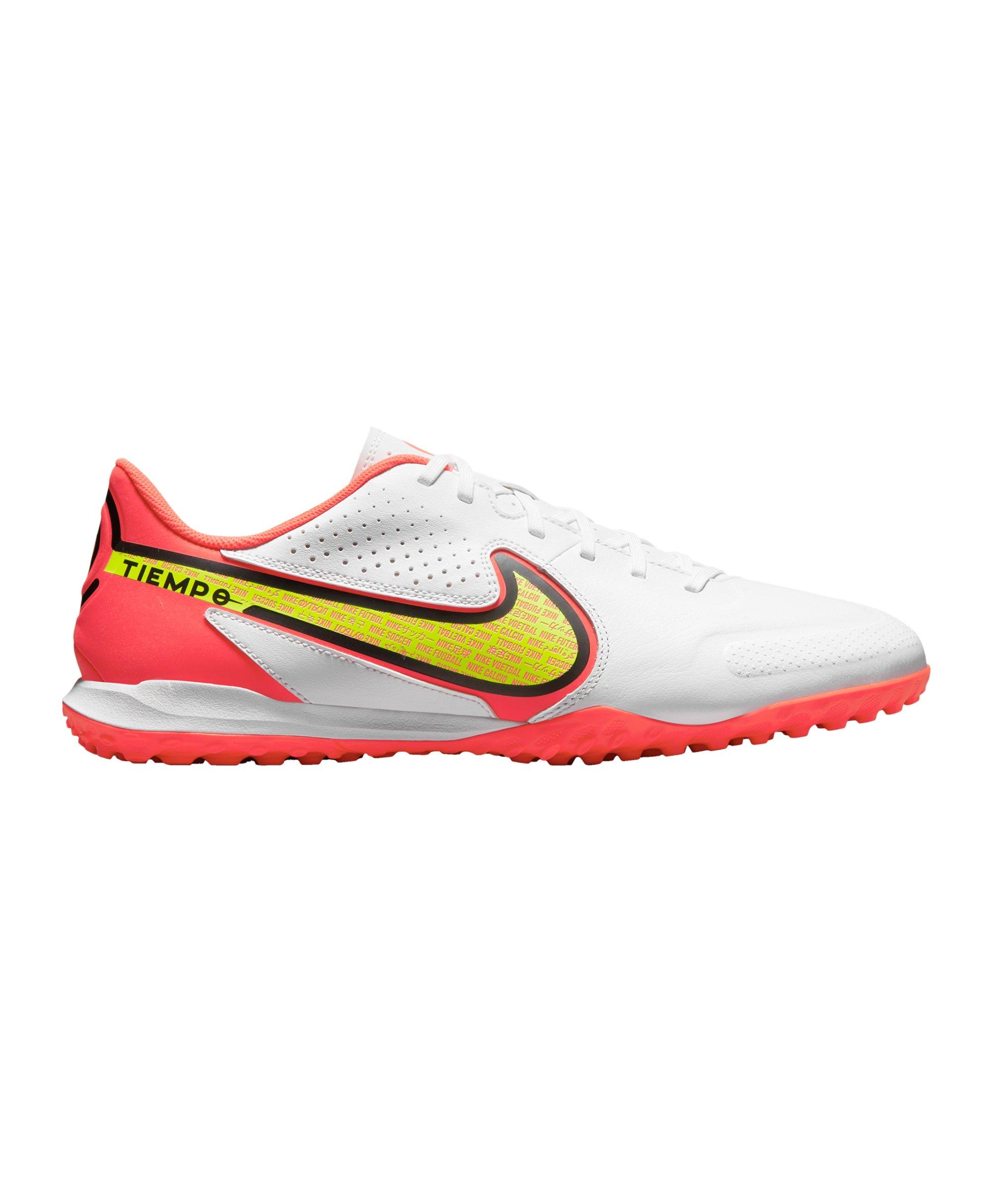 Nike Tiempo Legend IX Motivation Academy TF Weiss Gelb Rot F176 - weiss